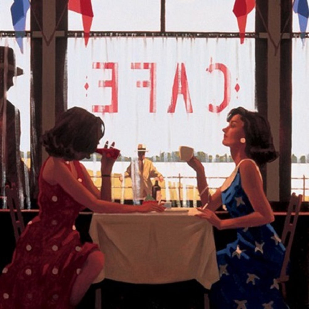 Cafe Days print by Jack Vettriano