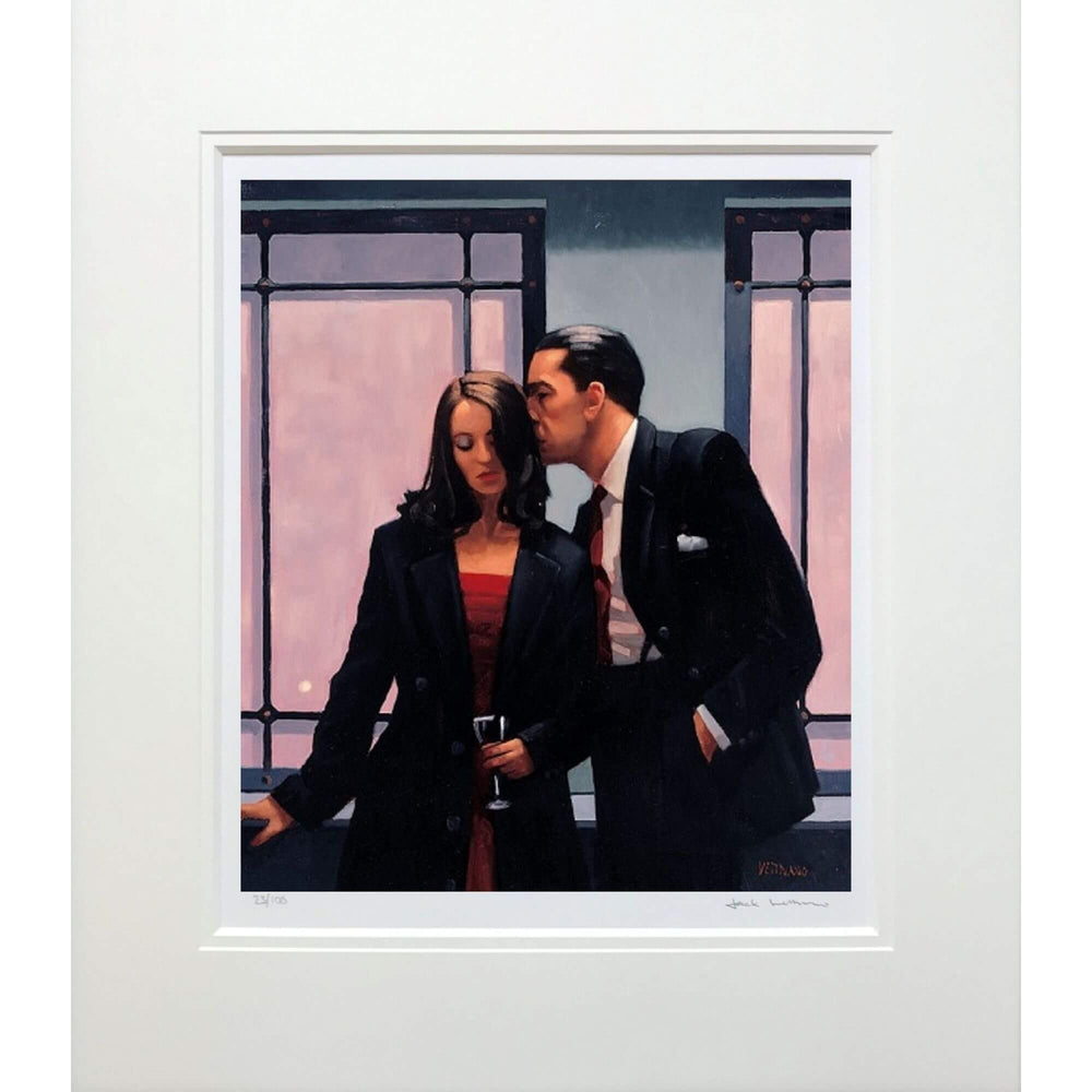 Jack Vettriano Contemplation of Betrayal Mounted