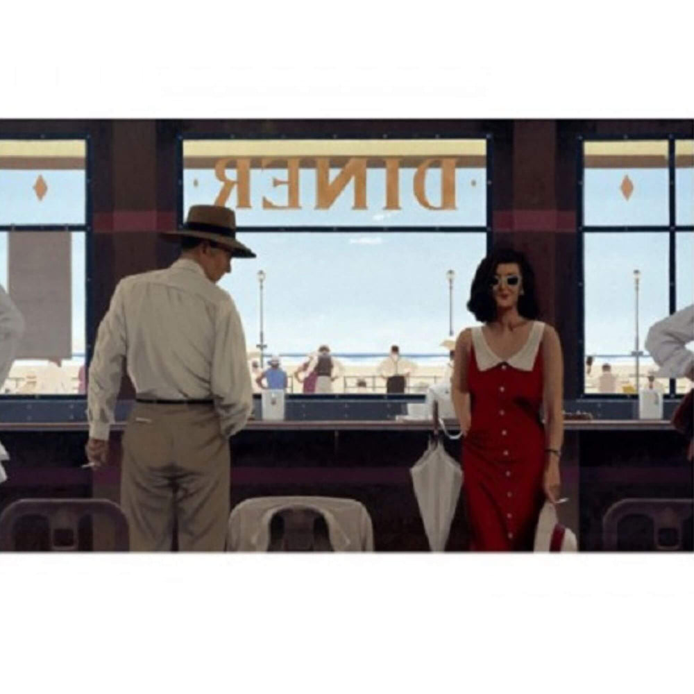 Daytona Diner Jack Vettriano Bluebird Collection