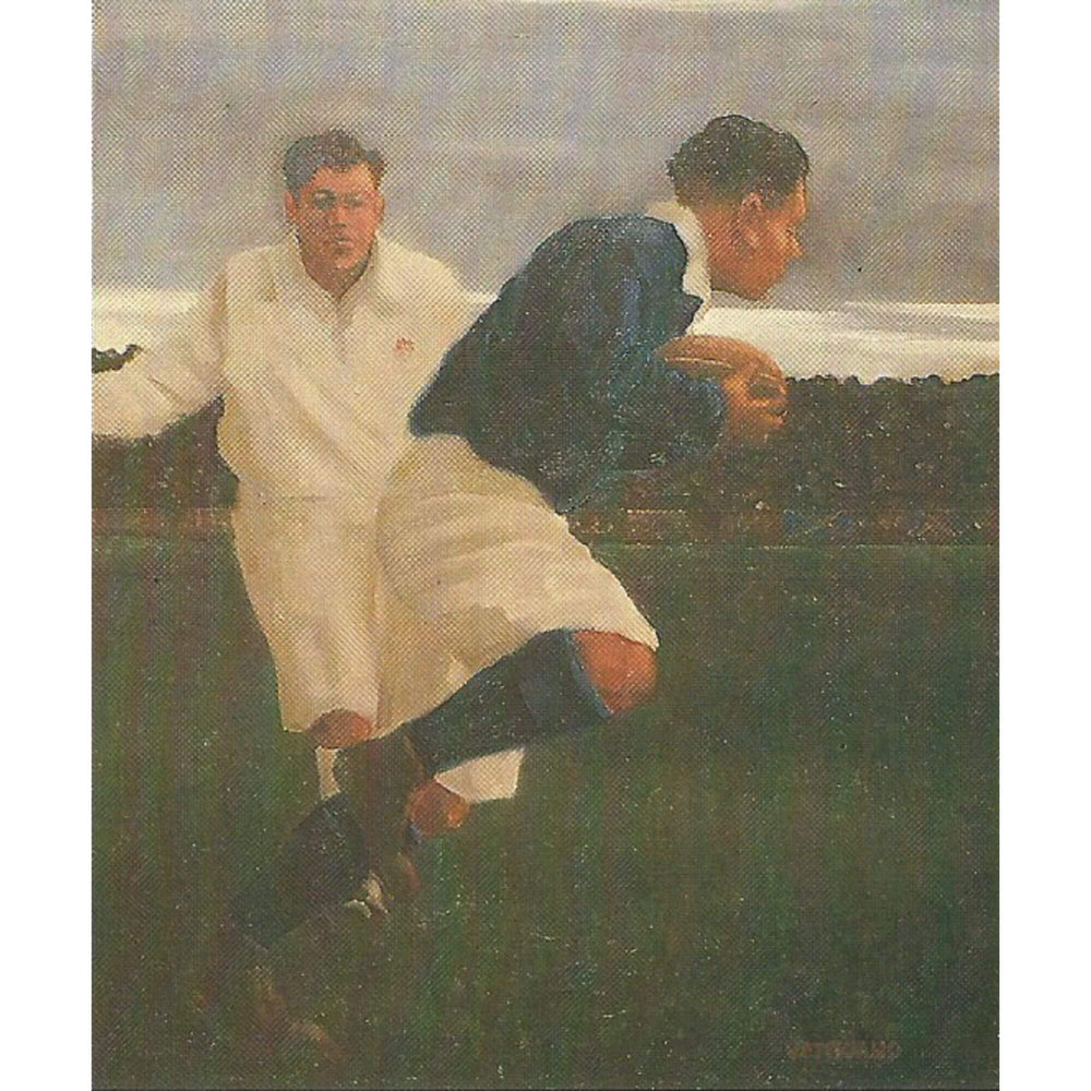 Eluding The Tackle by Jack Vettriano