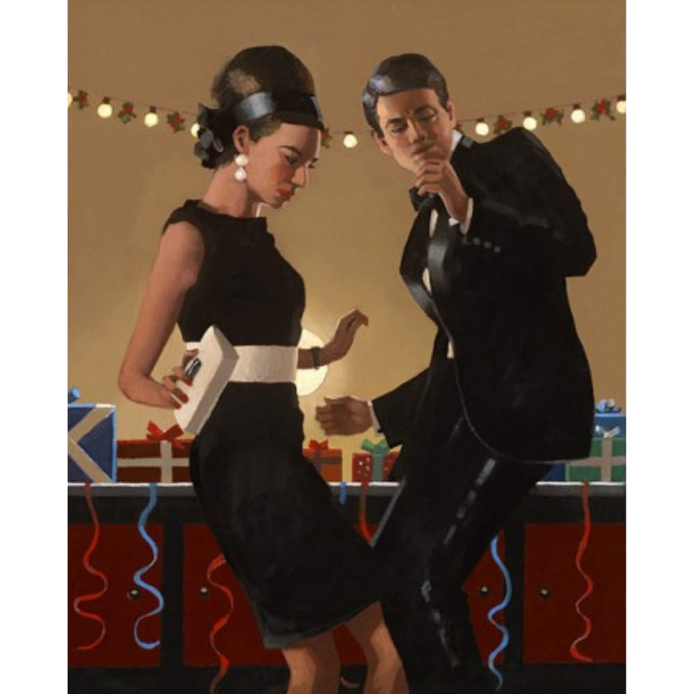 Lets Twist Again Signed Card Jack Vettriano