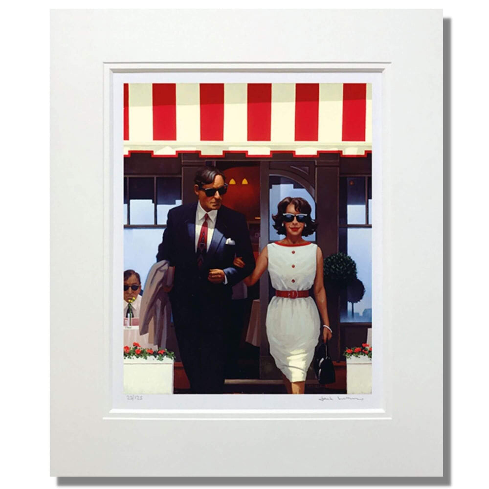 Lunchtime Lovers Jack Vettriano Mounted Limited Edition Print
