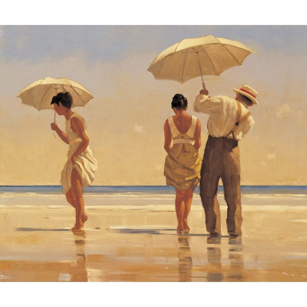 Mad Dogs Jack Vettriano people on a beach