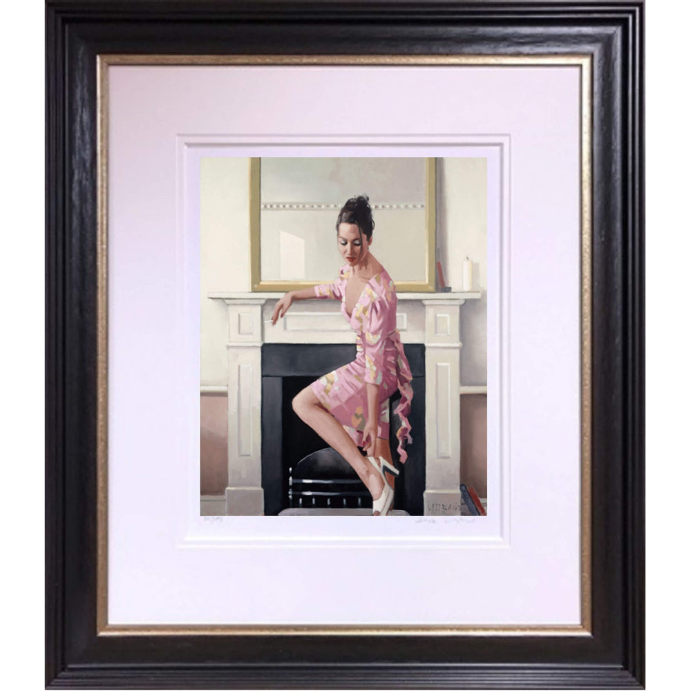 Model in Westwood The Contemplation Series Jack Vettriano Framed
