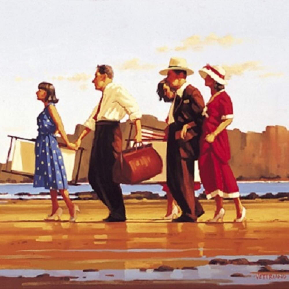 Oh Happy Days Signed Framed Print Jack Vettriano