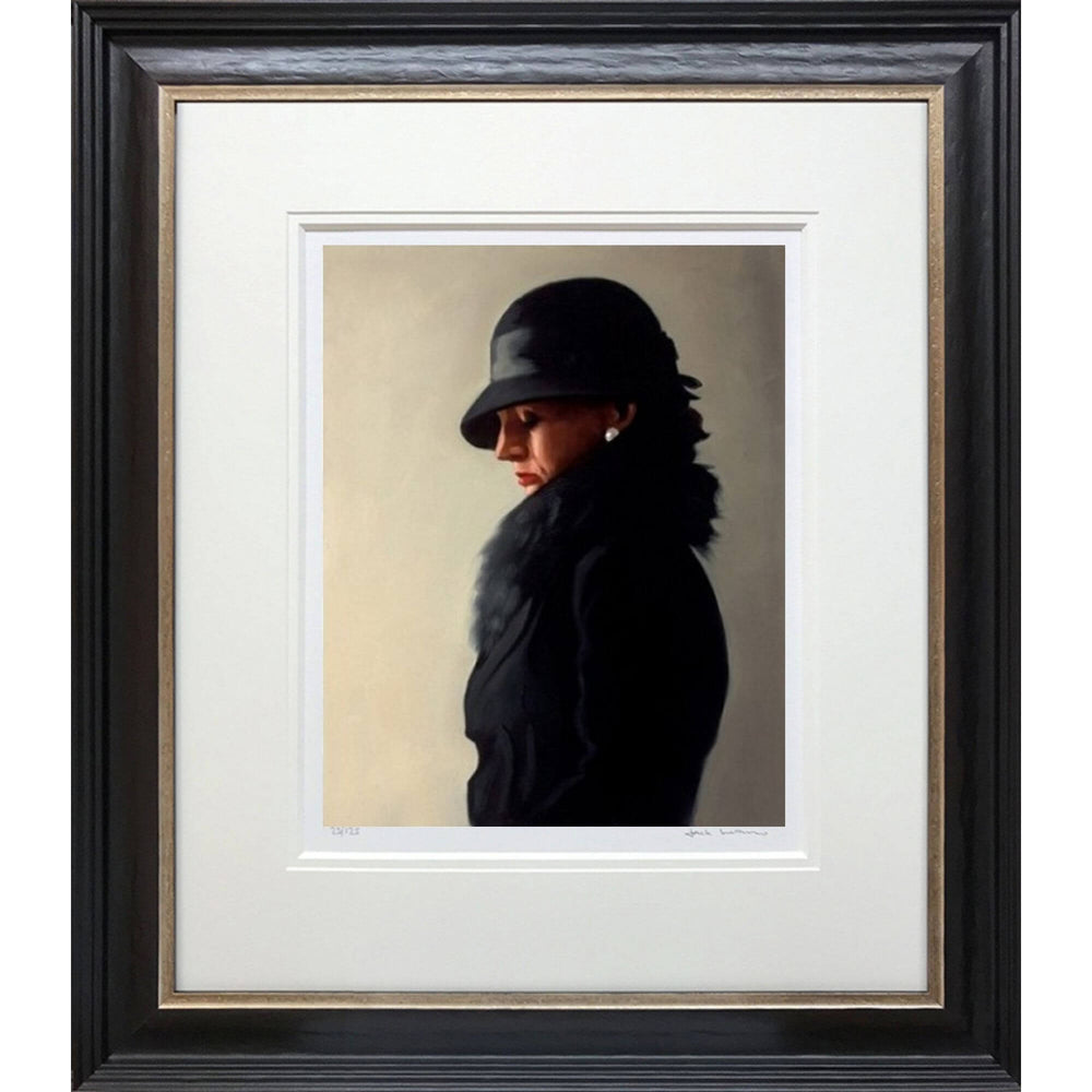 Portrait in Black and Pearl Limited Edition Print Jack Vettriano Framed