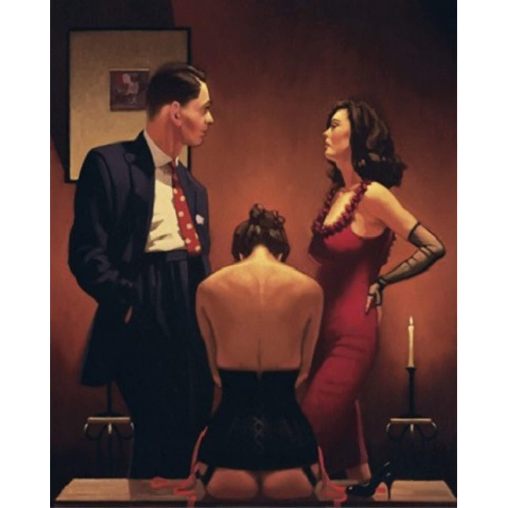 Scarlet Ribbons Limited Edition Print Jack Vettriano