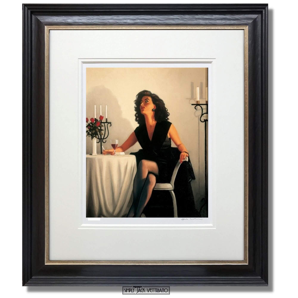 Table for One Limited Edition Print Jack Vettriano Framed