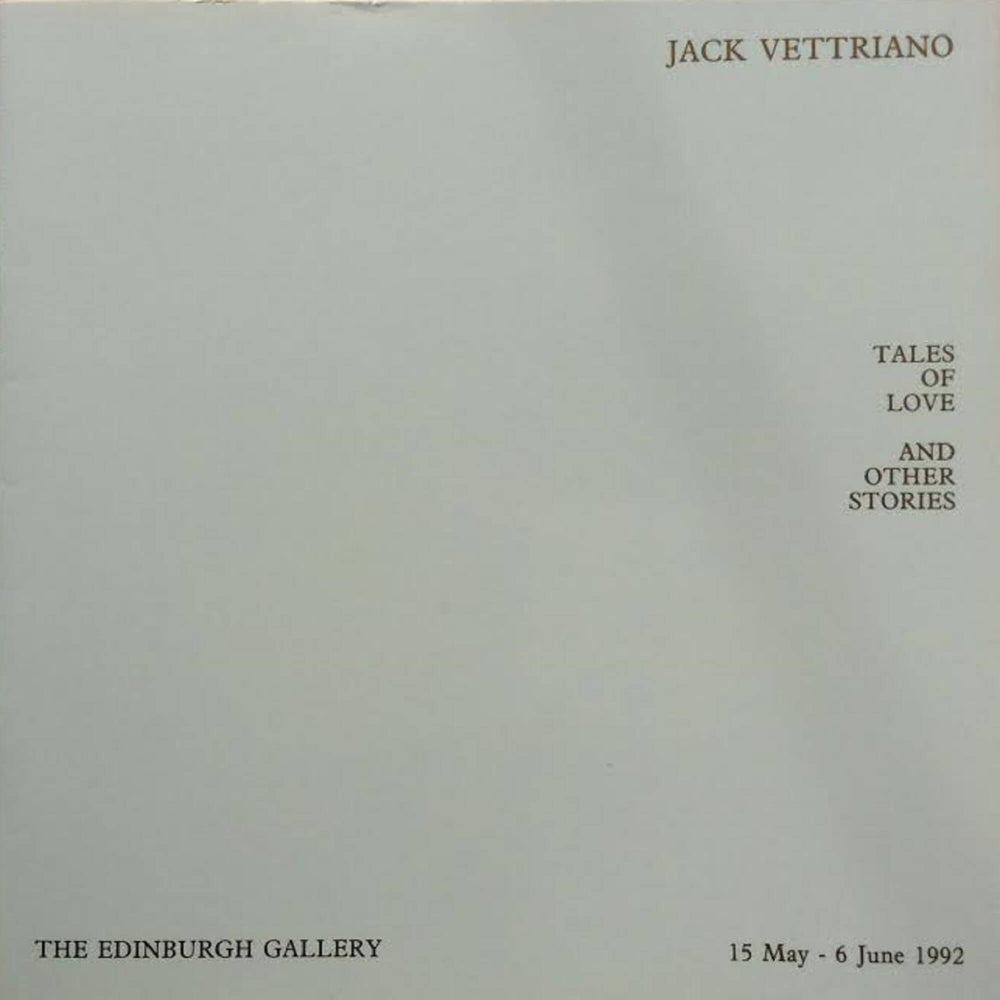 Tales of Love & Other Stories  Exhibition Catalogue Jack Vettriano