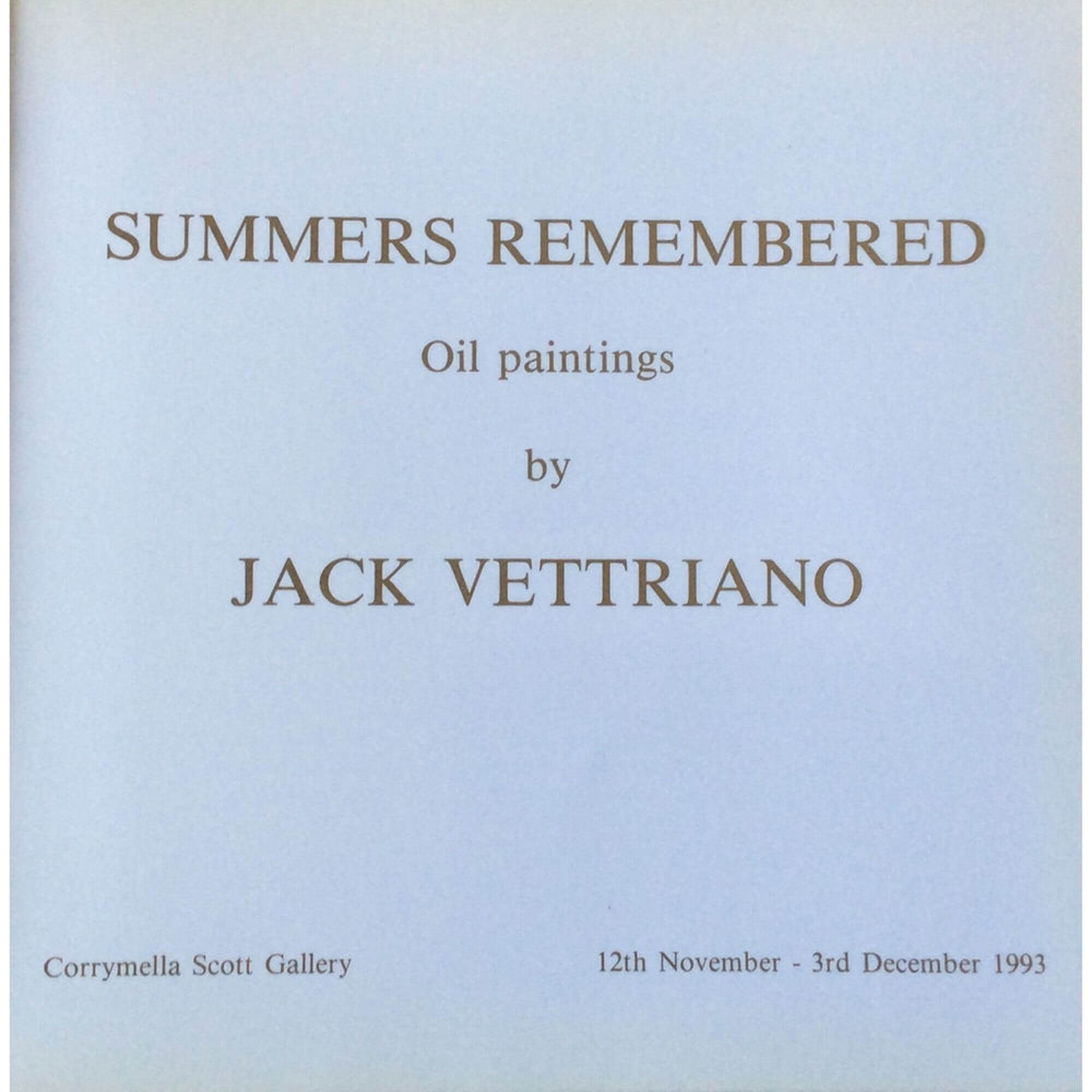 Summers Remembered Catalogue Jack Vettriano