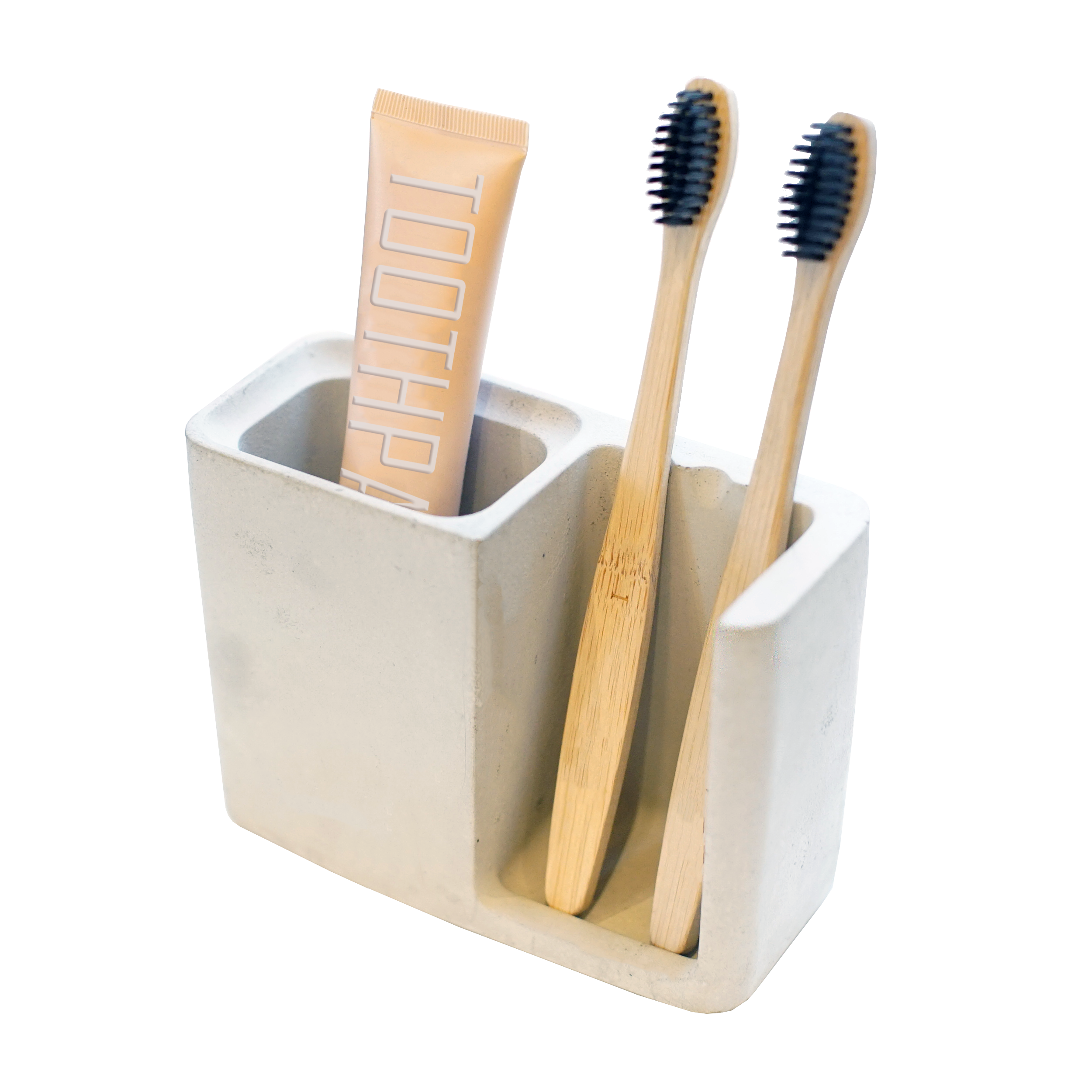 Concrete Toothbrush Holder - Urban Minimalist