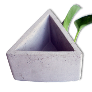 Large Triangle Concrete Planter - Urban Minimalist