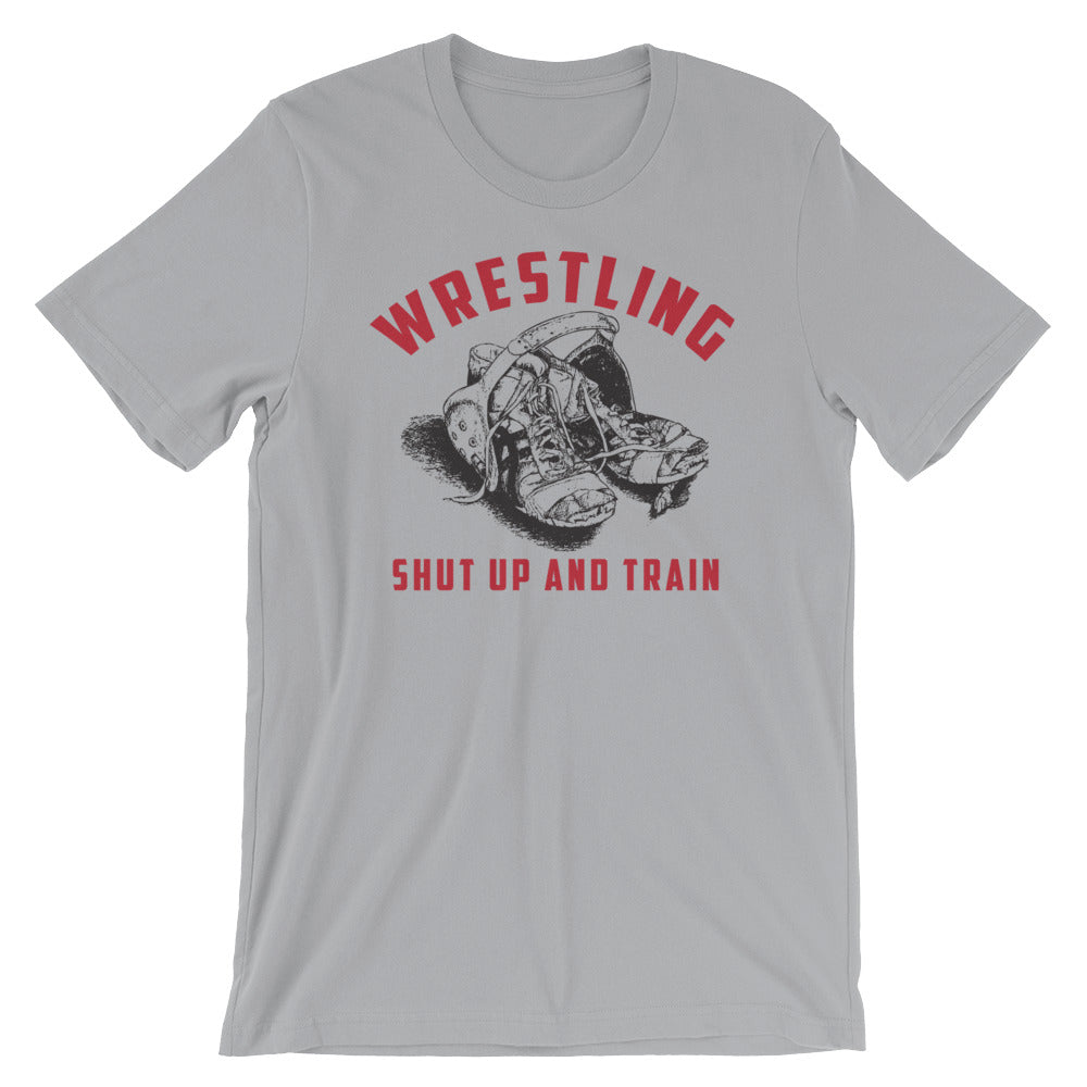 Wrestling shut up and train tee