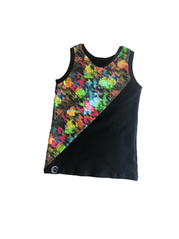 Neon Abstract split tank