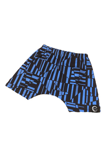 Wild n blue relaxed harem short