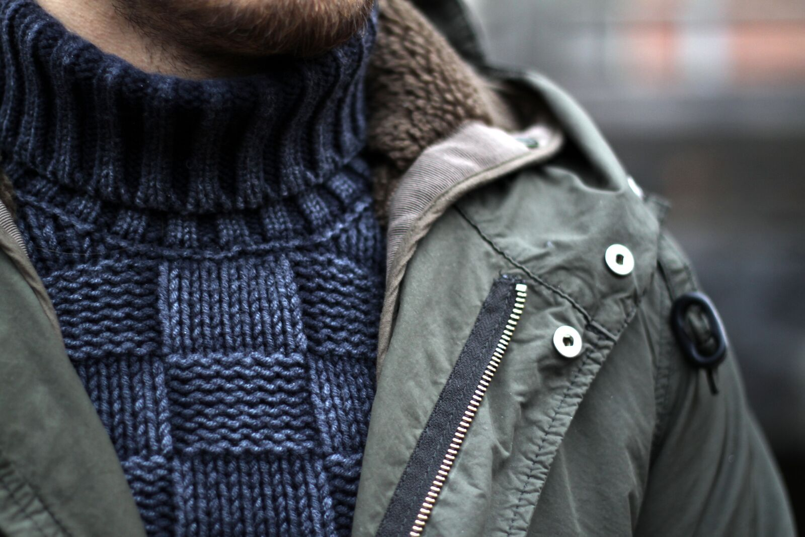 How to wear parka jacket - Aspesi Lambrettone