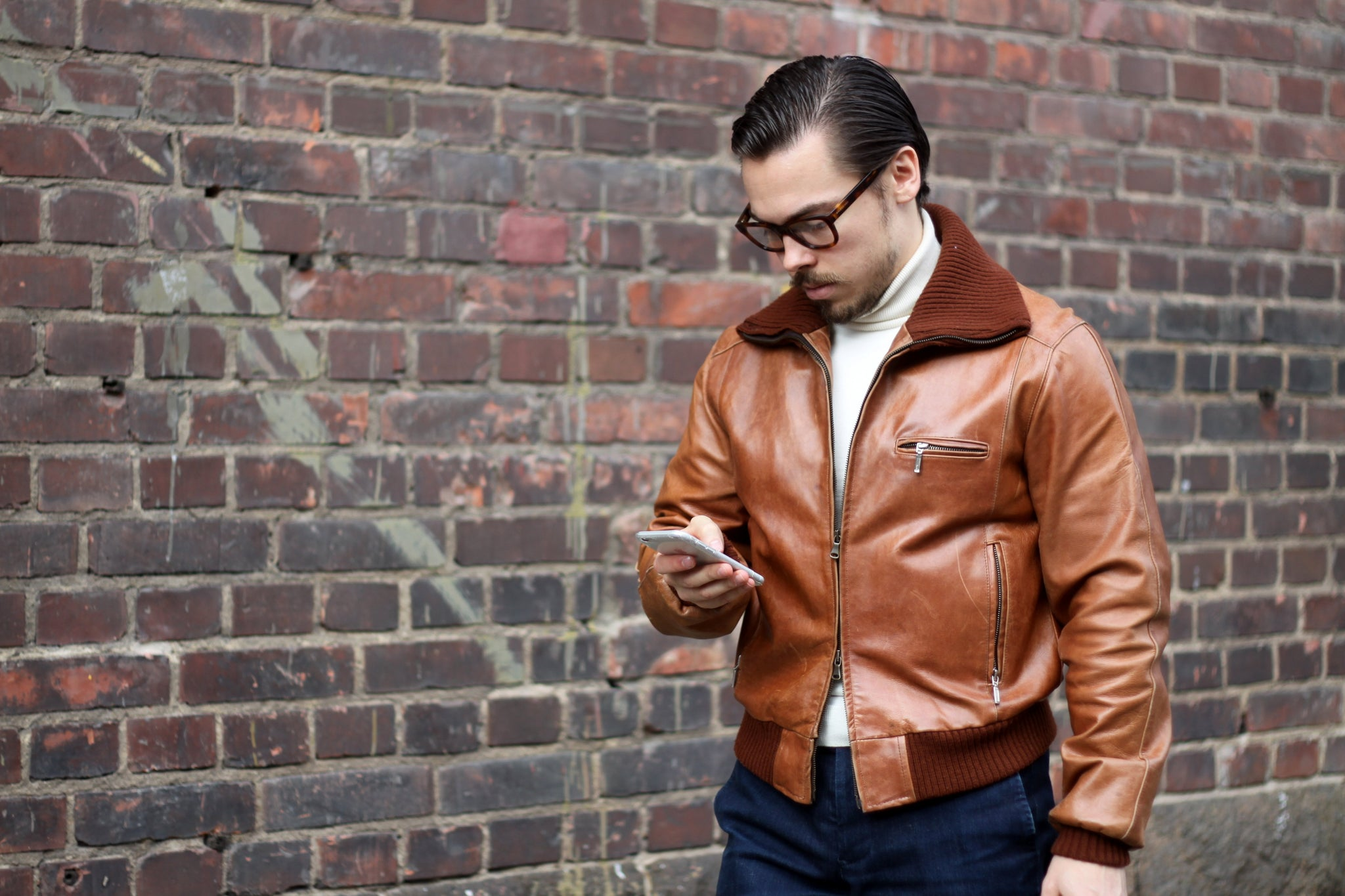 Brown vintage A-1 leather jacket - Casual Saturday