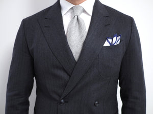 Gray cashmere tie - seasonal option for fall and winter