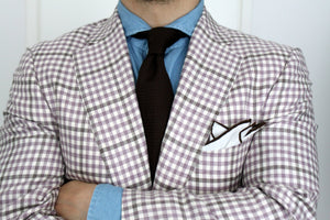 Checked sport coat and details