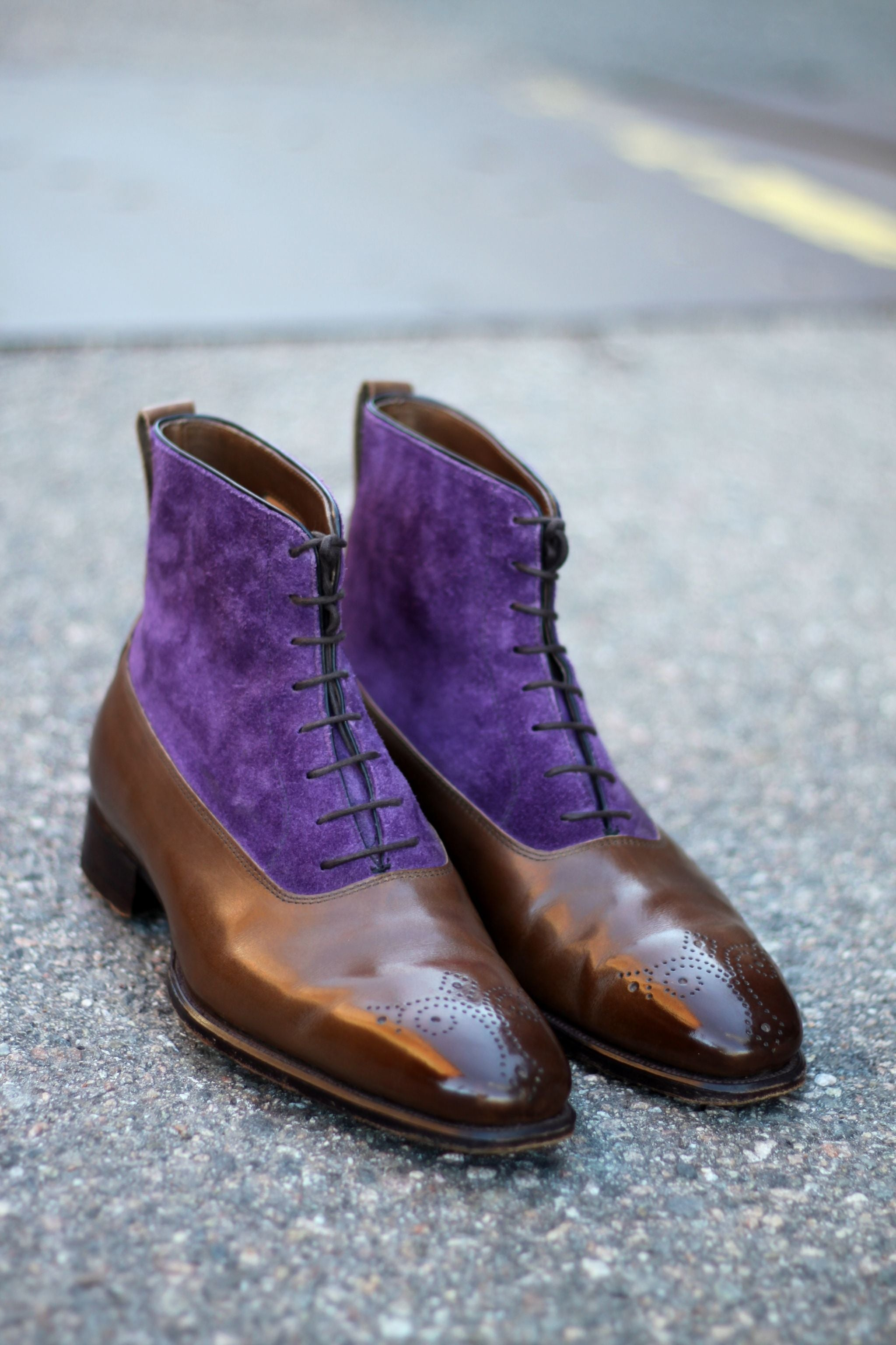 Alfred Sargent two-tone Miller balmoral boots