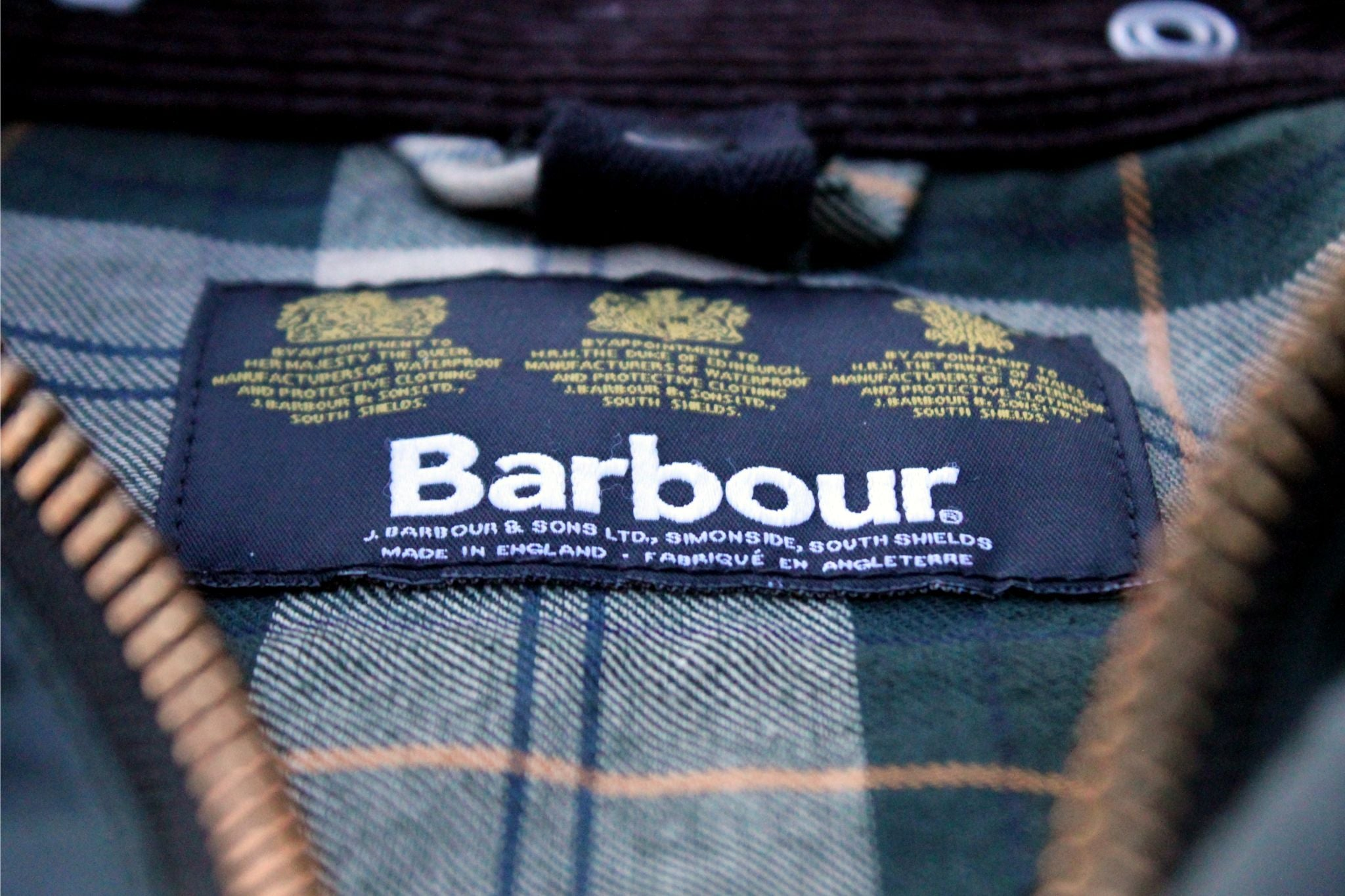 Barbour Bedale SL - label details