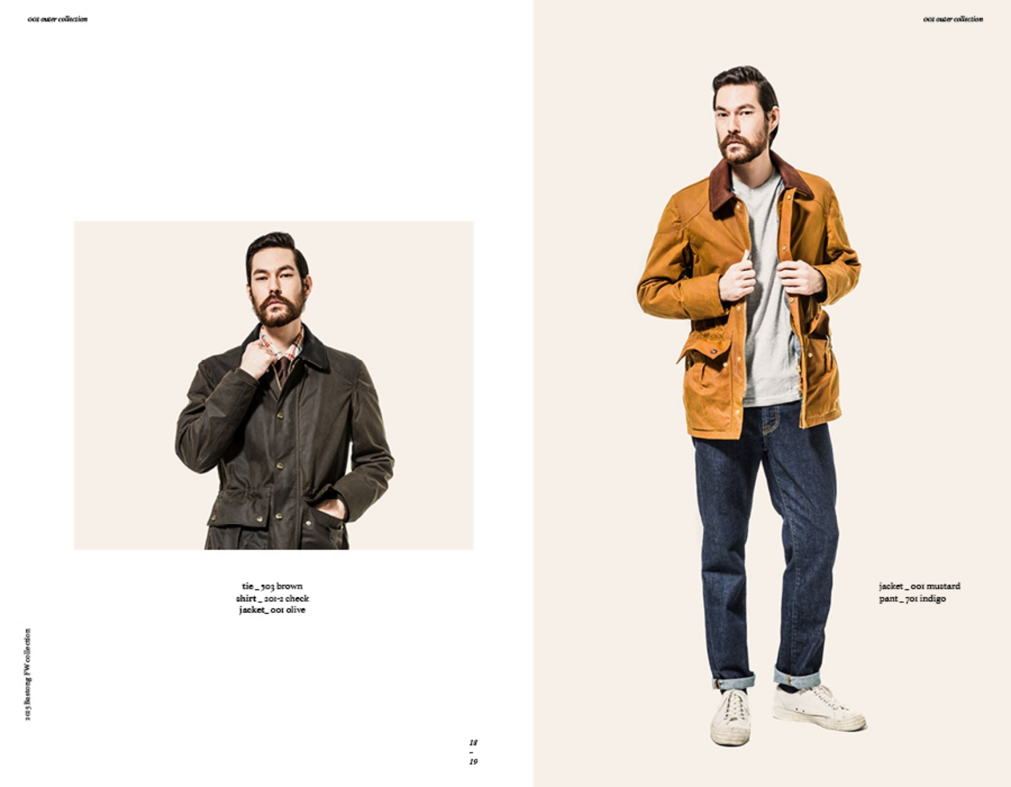 Bastong fw15 lookbook - casual style denim with waxed cotton jacket