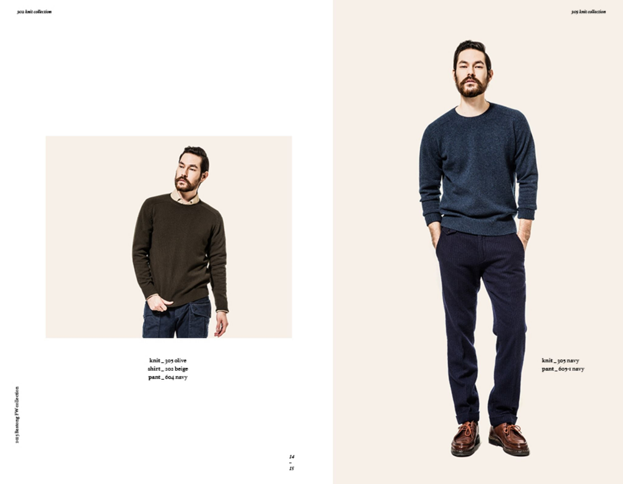 Bastong fw15 lookbook - crewneck wool sweaters