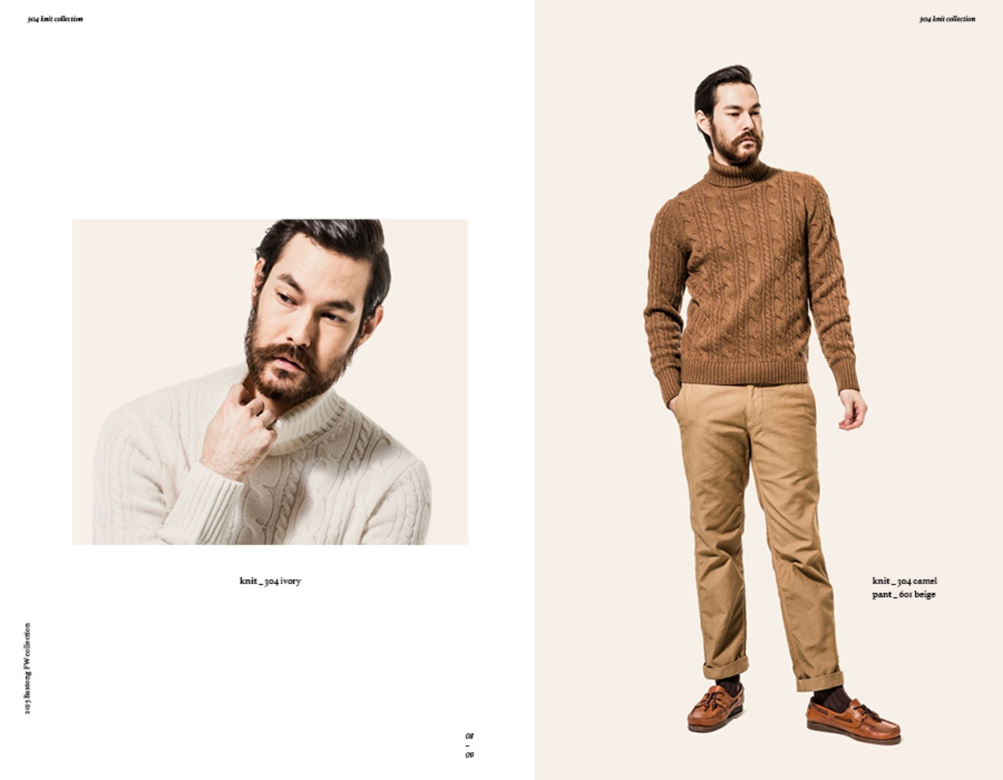 Bastong fw15 lookbook - roll neck sweater with cotton chinos