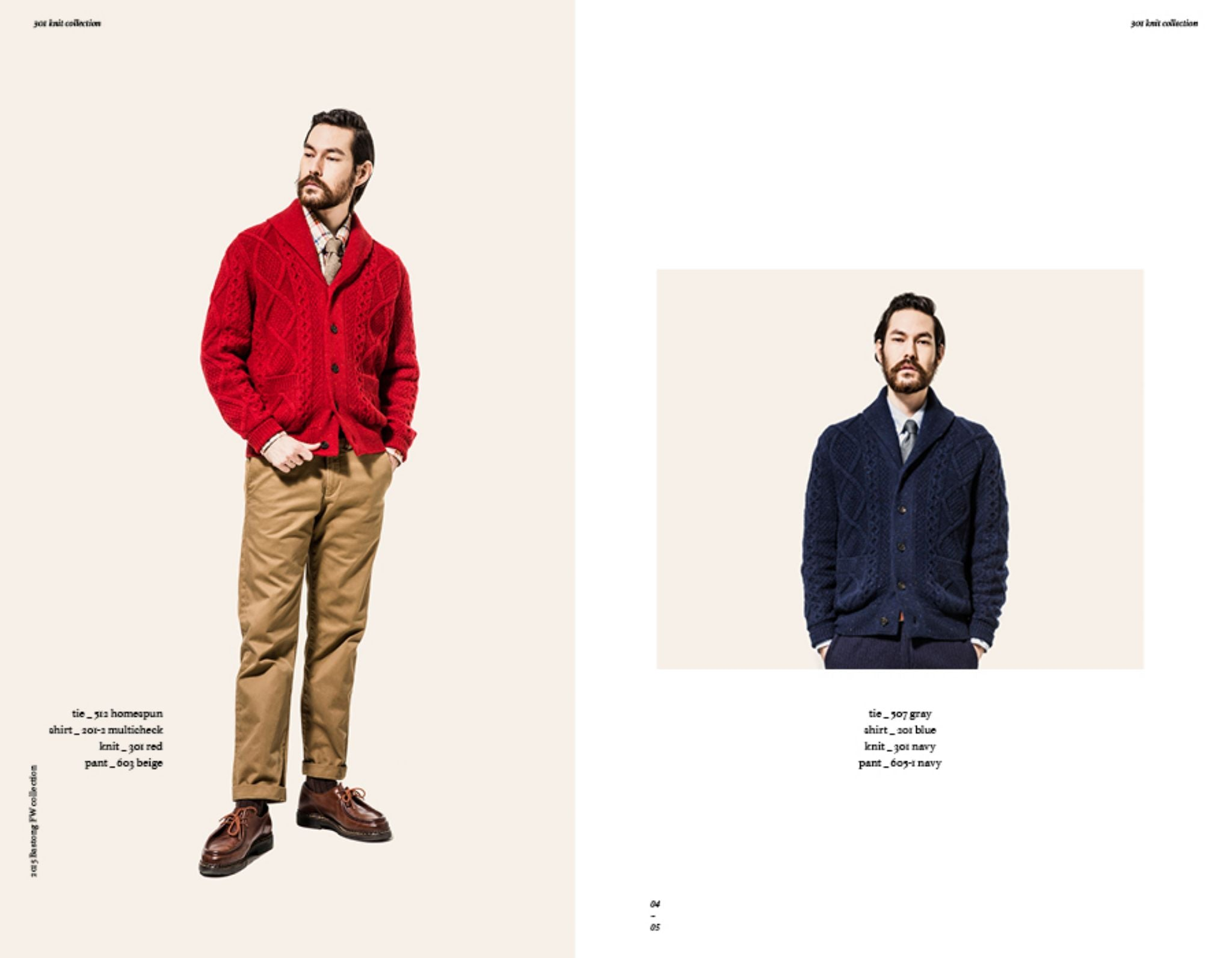 Bastong fw15 lookbook - shawl collar cardigan