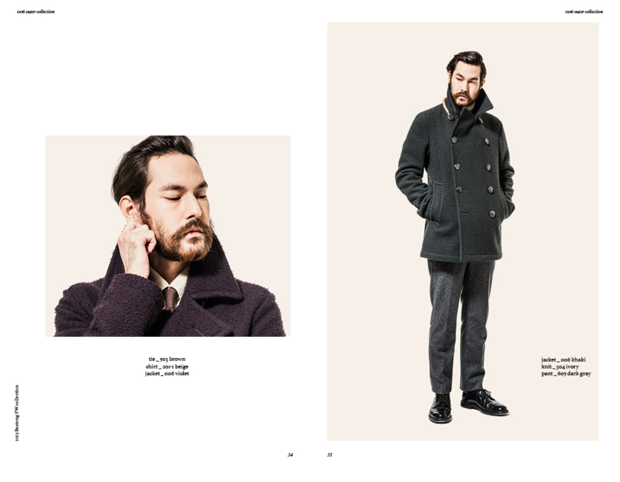 Bastong fw15 lookbook - Casentino wool peacoat
