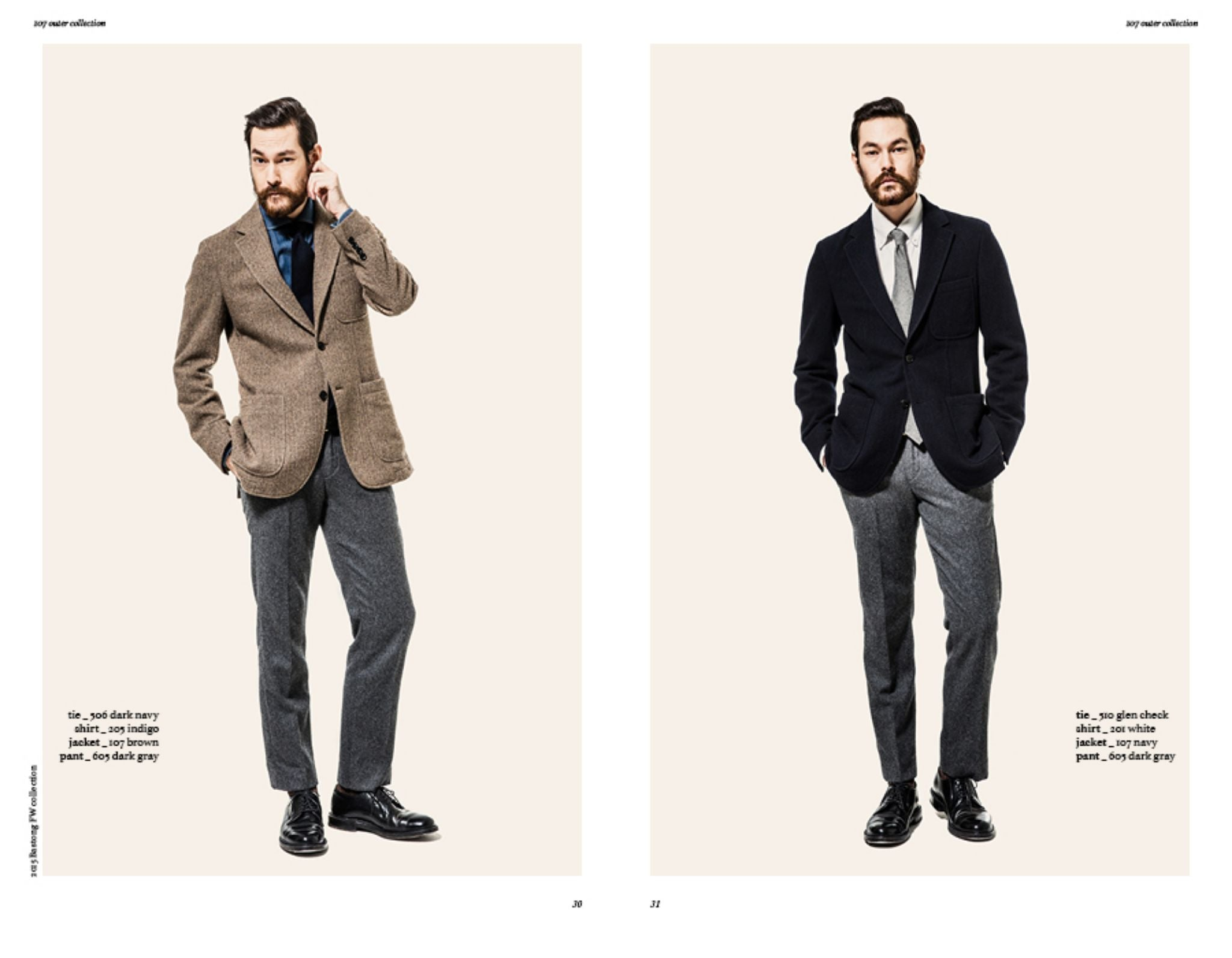 Bastong fw15 lookbook - unstructured blazers