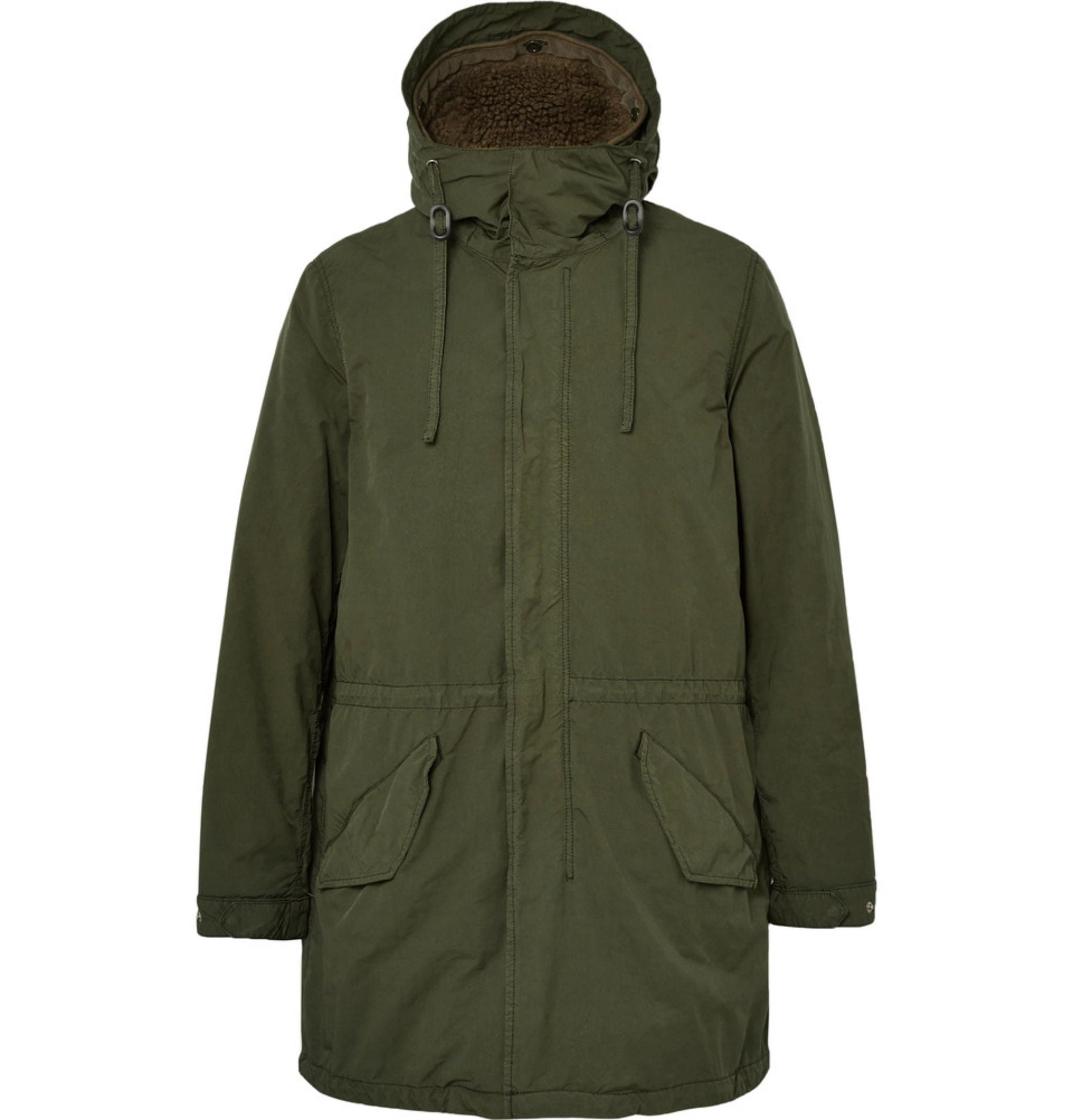 best-overcoat-for-winter-aspesi-olive-green-parka-jacket