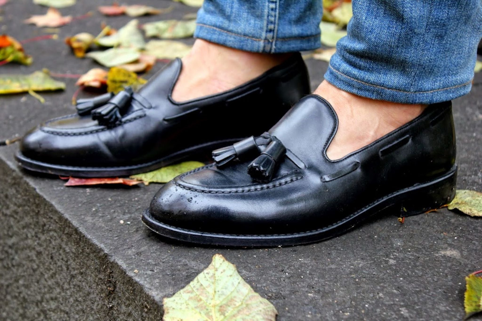 Bexley black tassel loafers