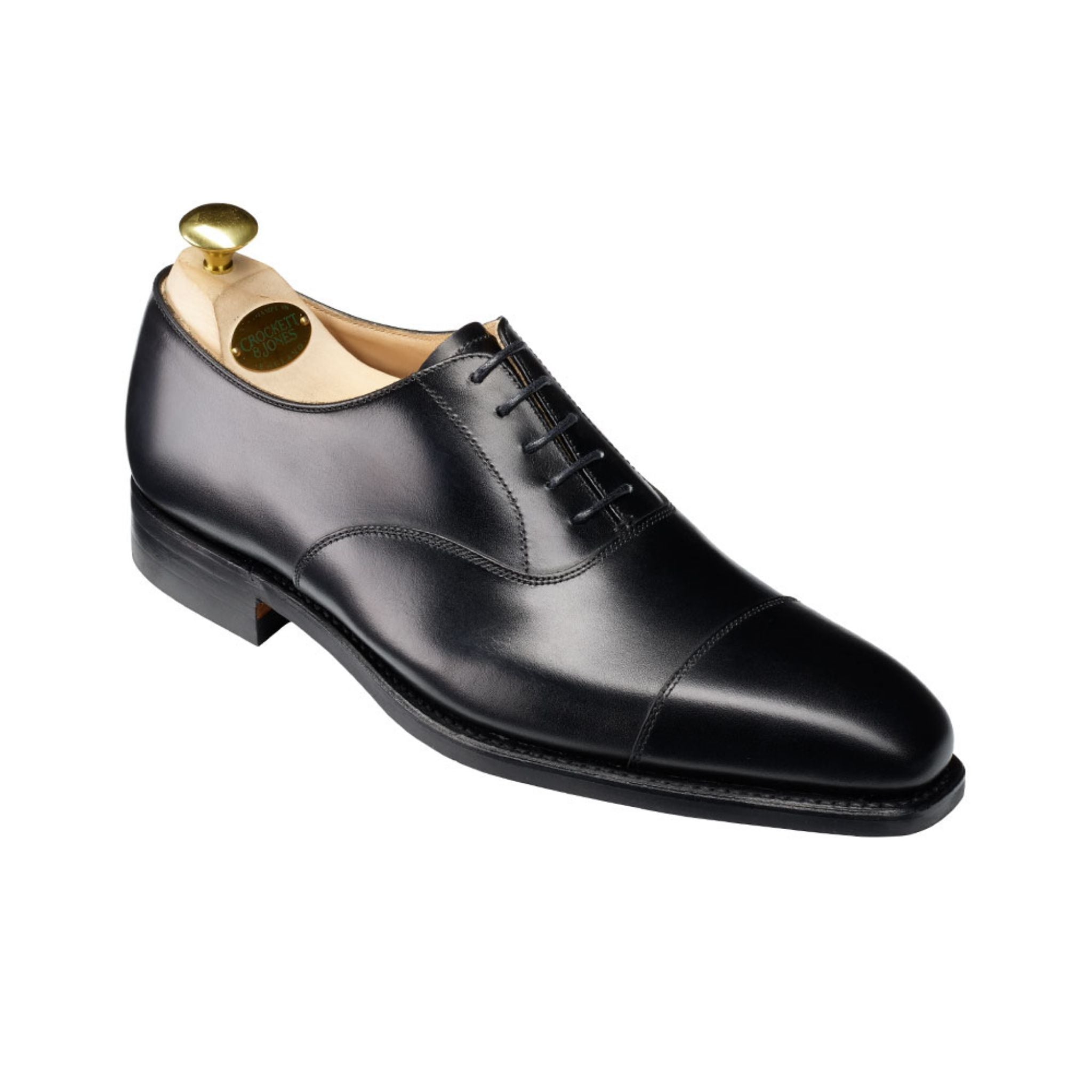 Black cap toe oxfords - Crockett & Jones Hallam