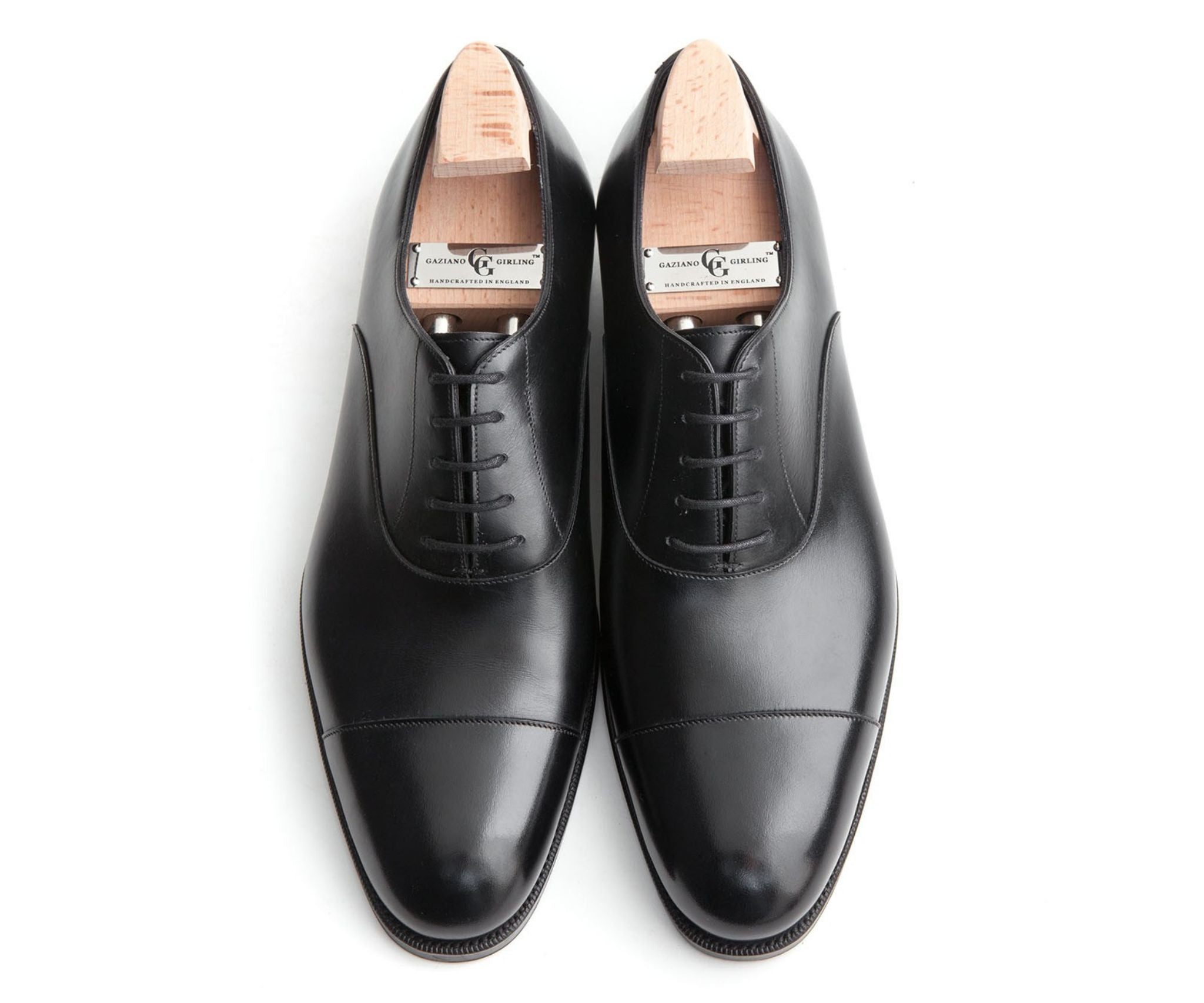 Black cap toe oxfords - Gaziano & Girling