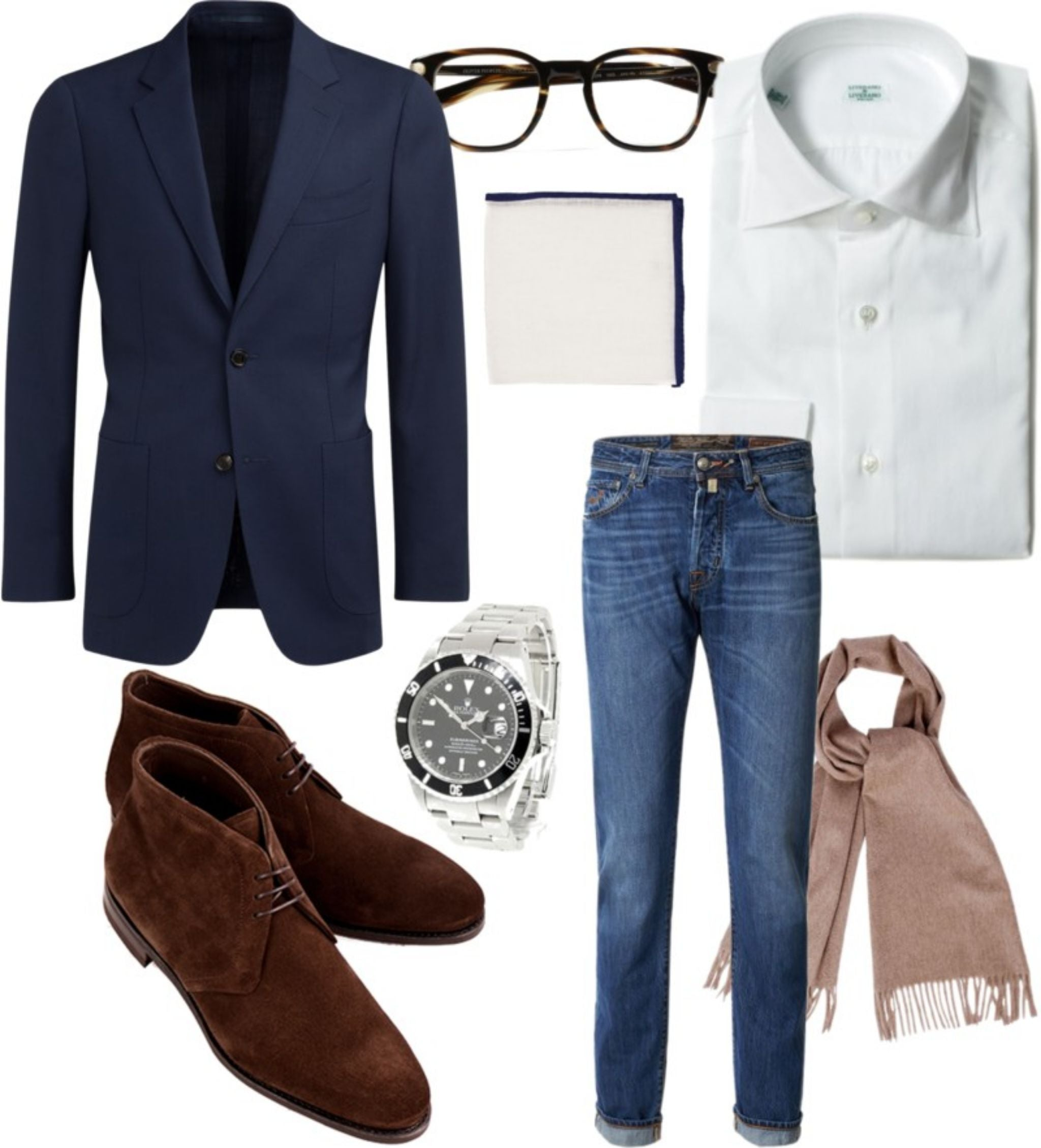 Blue-sport-coat-with-jeans-and-cashmere-scarf