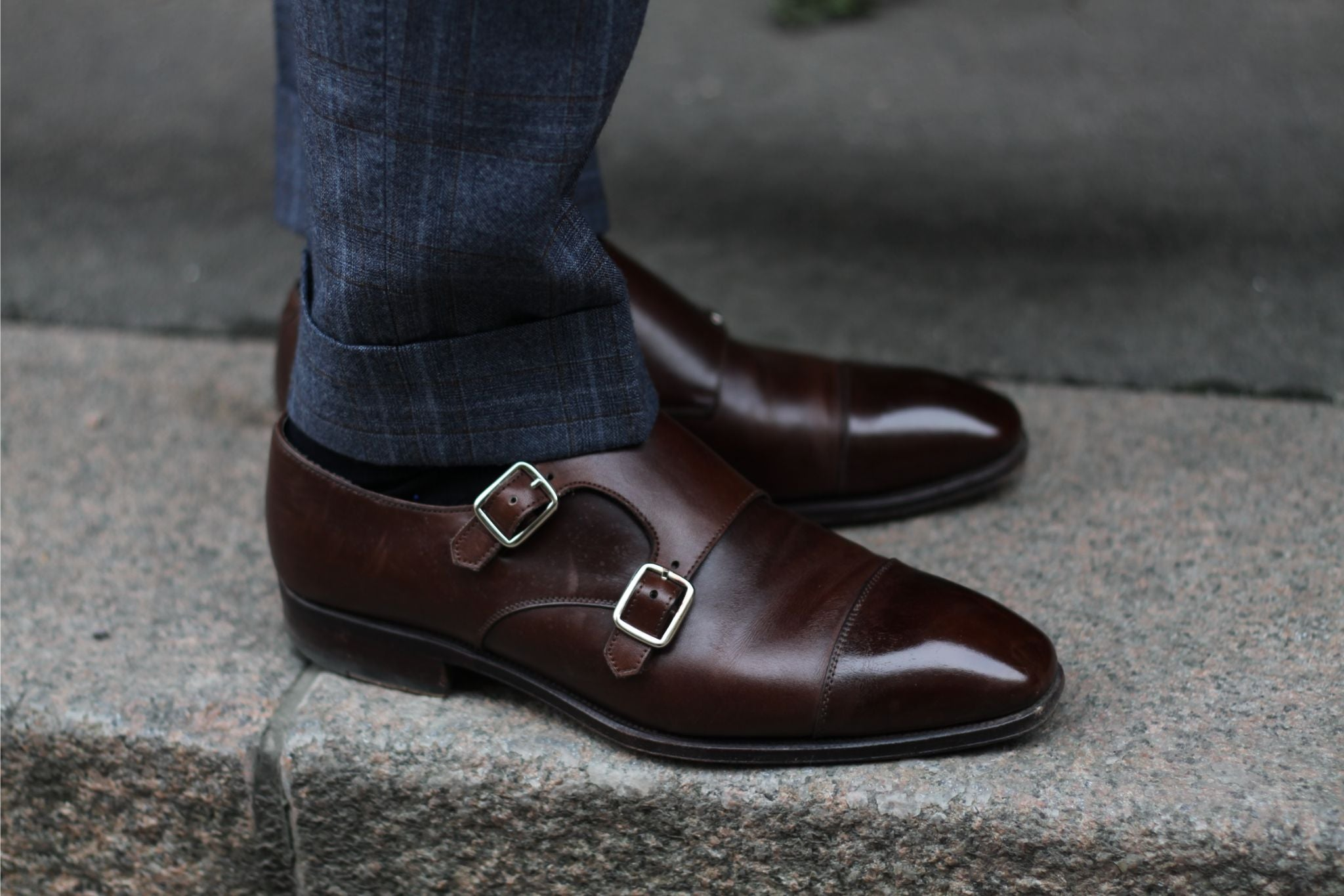 Carmina double monk shoes