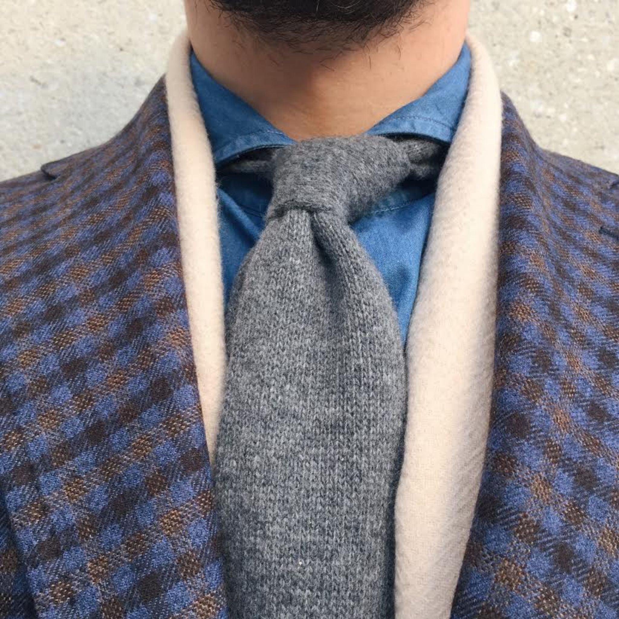 Berg&Berg cashmere tie with G.Abo Napoli sport coat