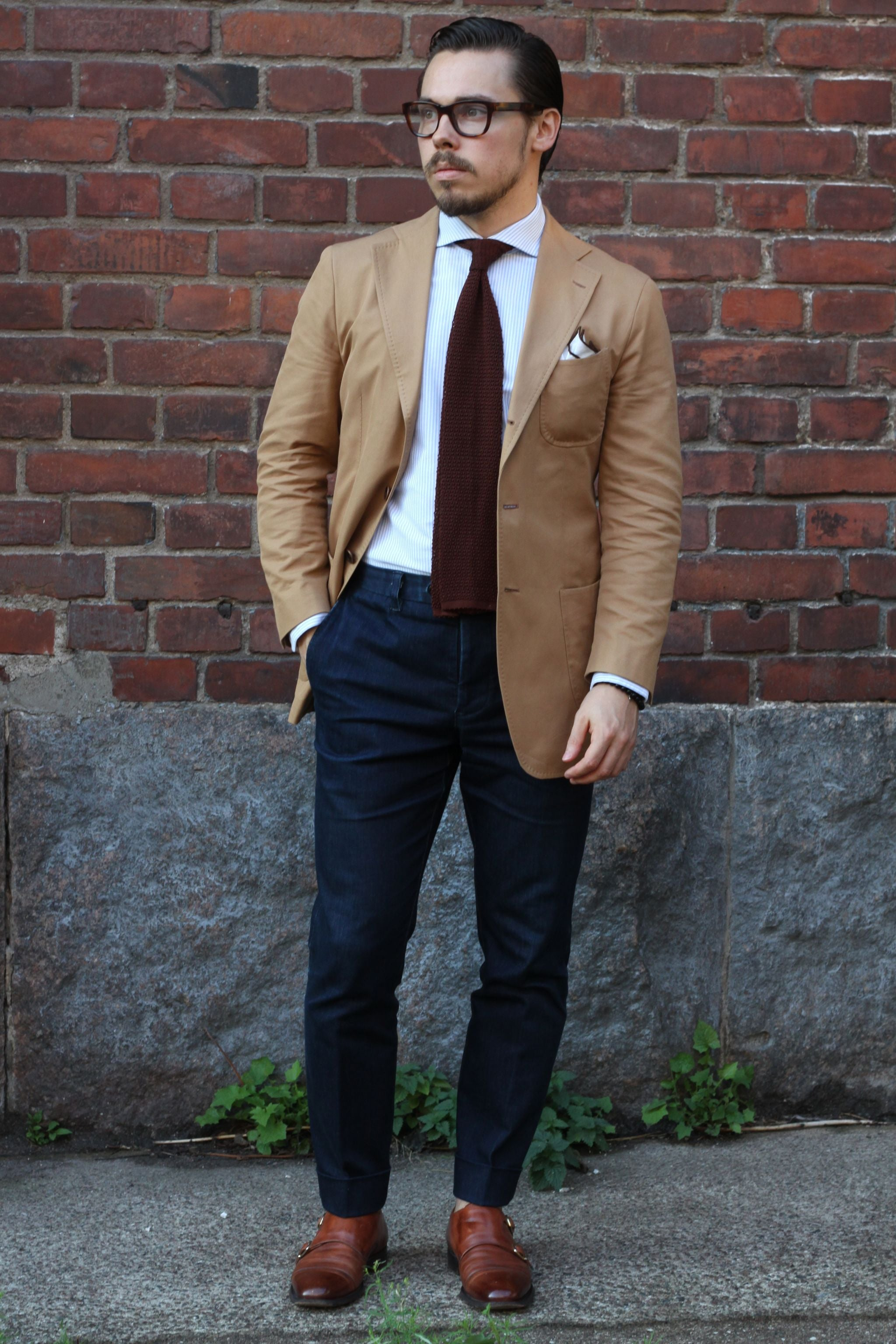 Casual cotton suit jacket as separate