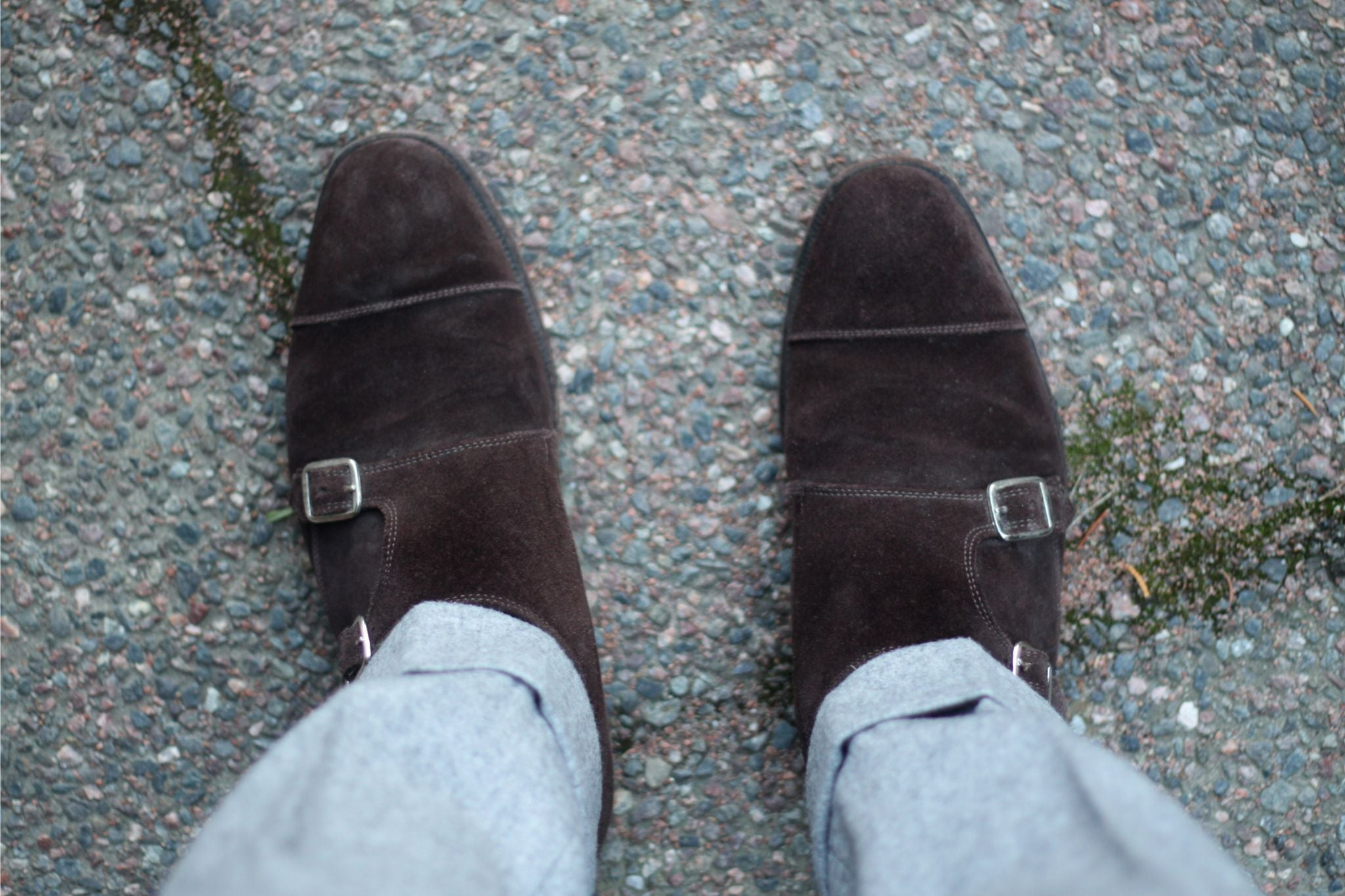 Cheaney Brown suede doublemonks