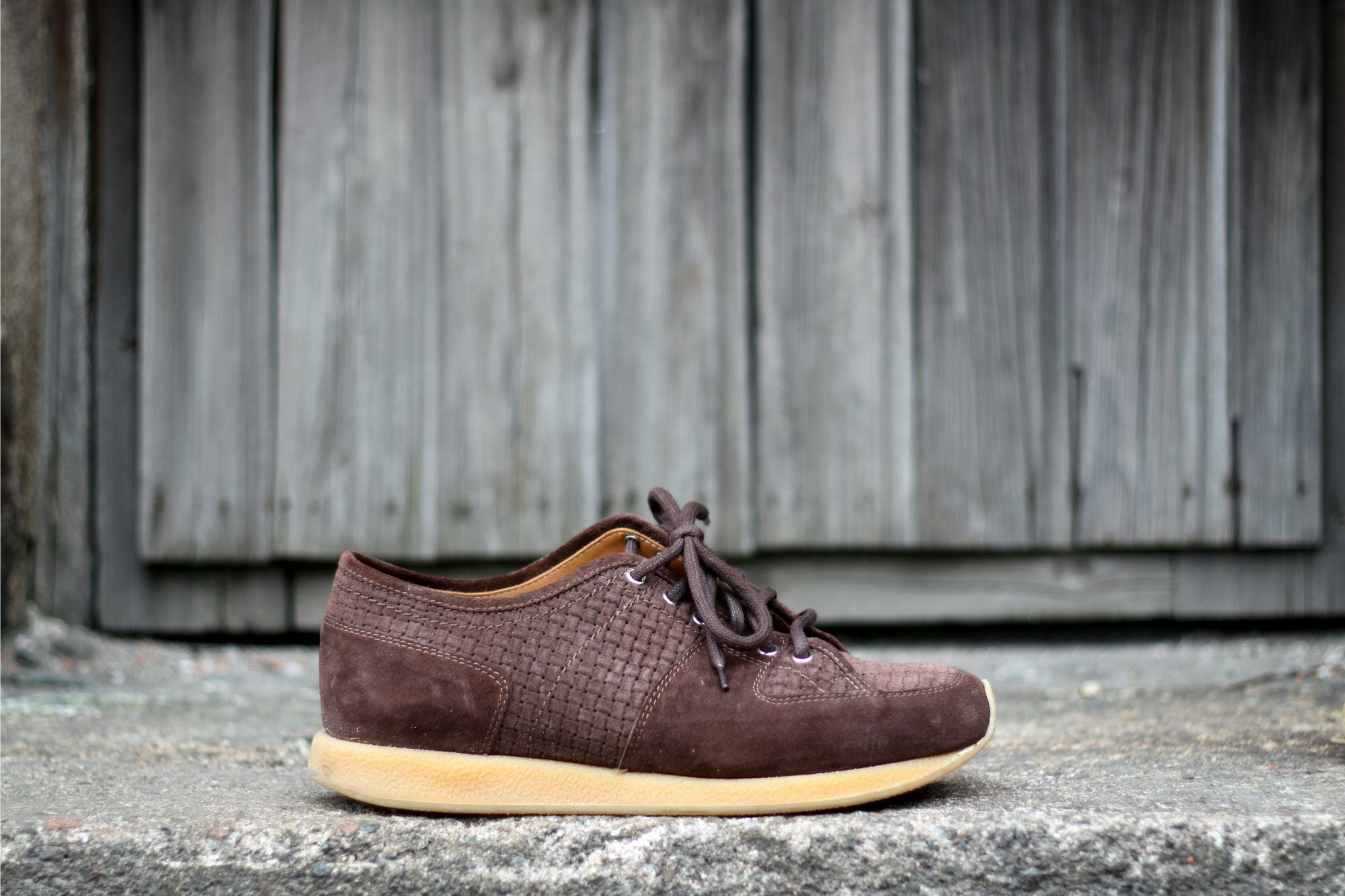 Christian Kimber x Eidos Napoli sneakers - side profile