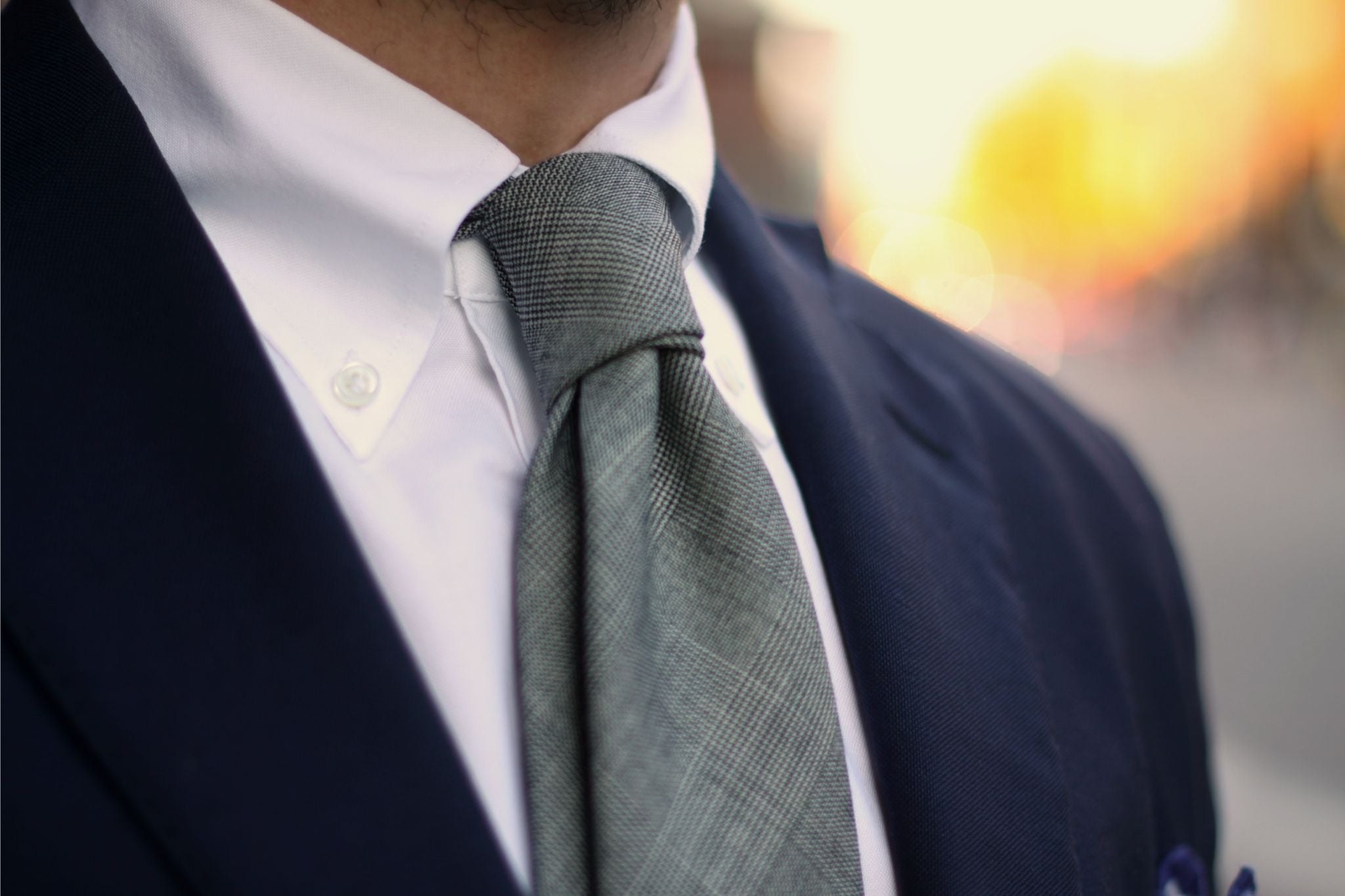 How to dress down a suit - Berg&Berg soft collar button-down collar shirt