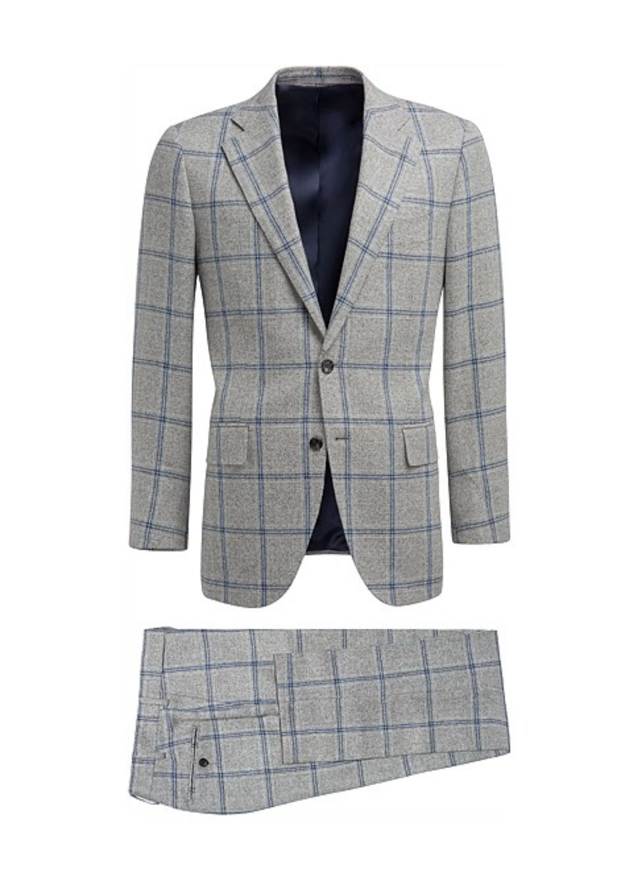 Gray windowpane suit - Suitsupply Lazio fit