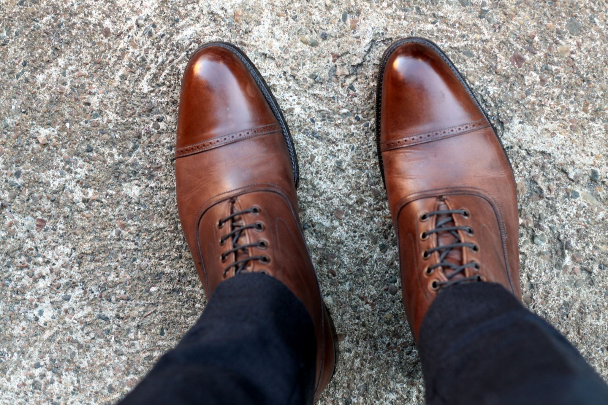 Grenson balmoral boots with flannel trousers