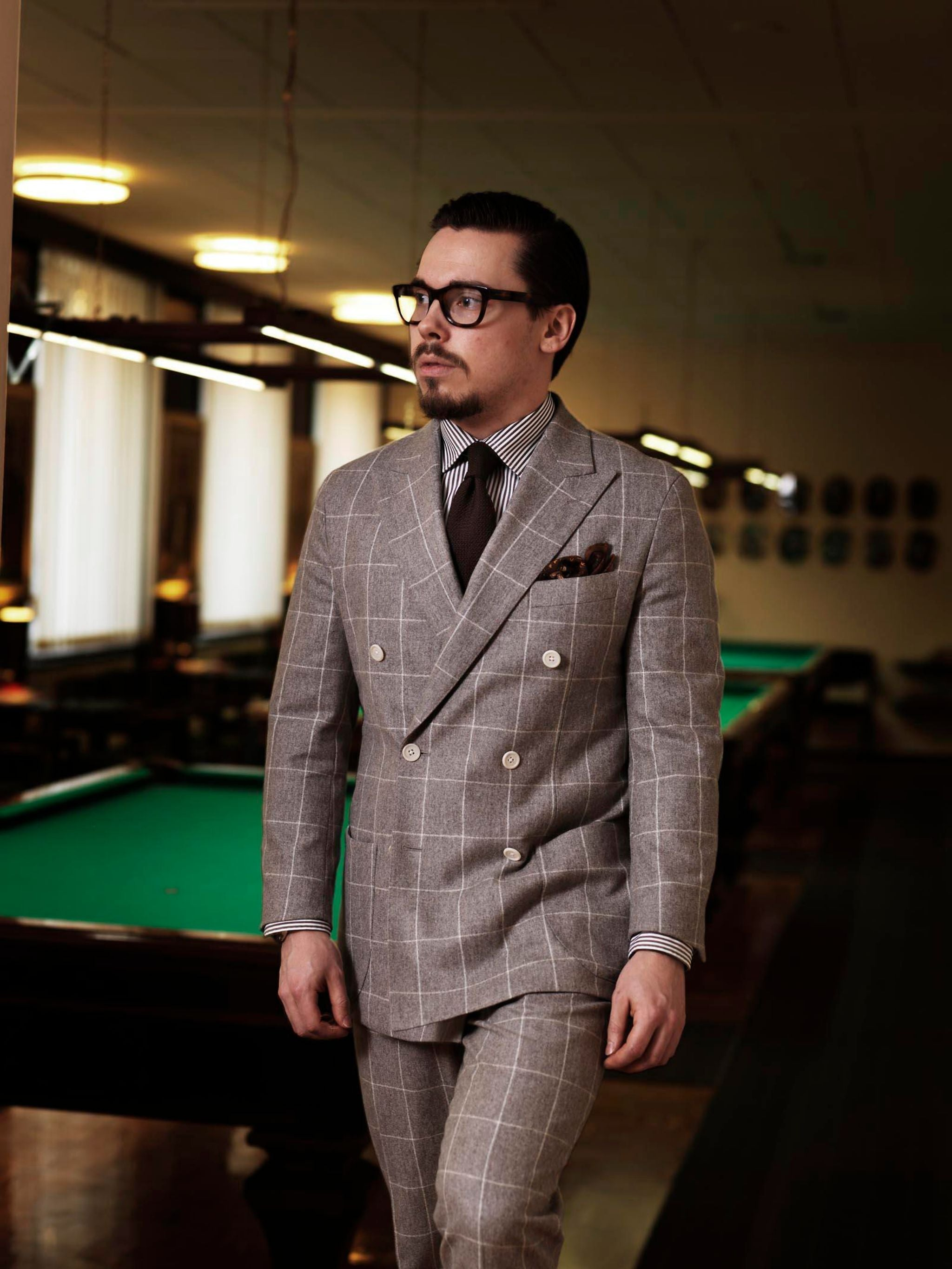 How to buy business suit - windowpane wool