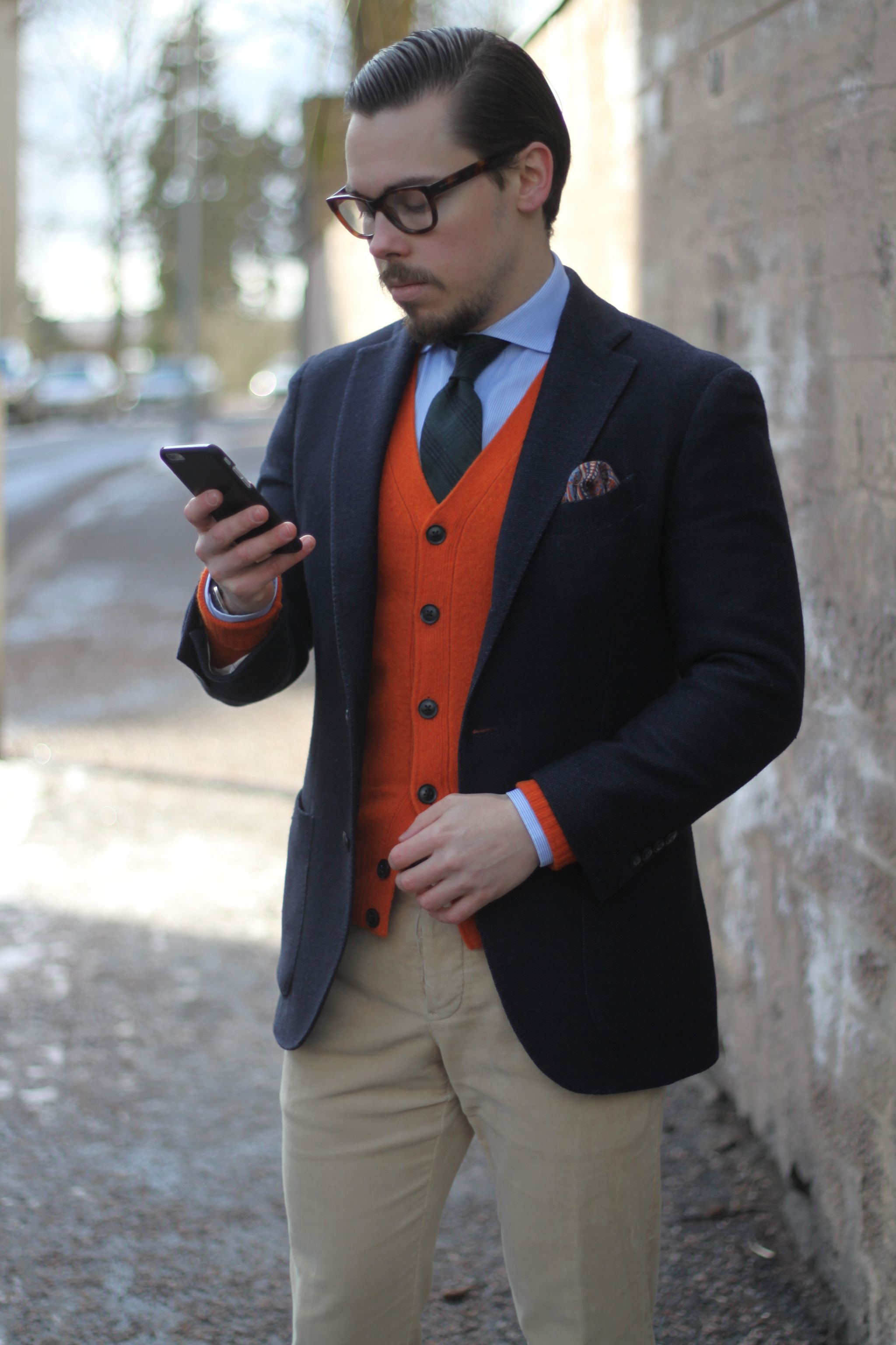 Cardigan with sport coat - how to layer with cardigan and sport coat