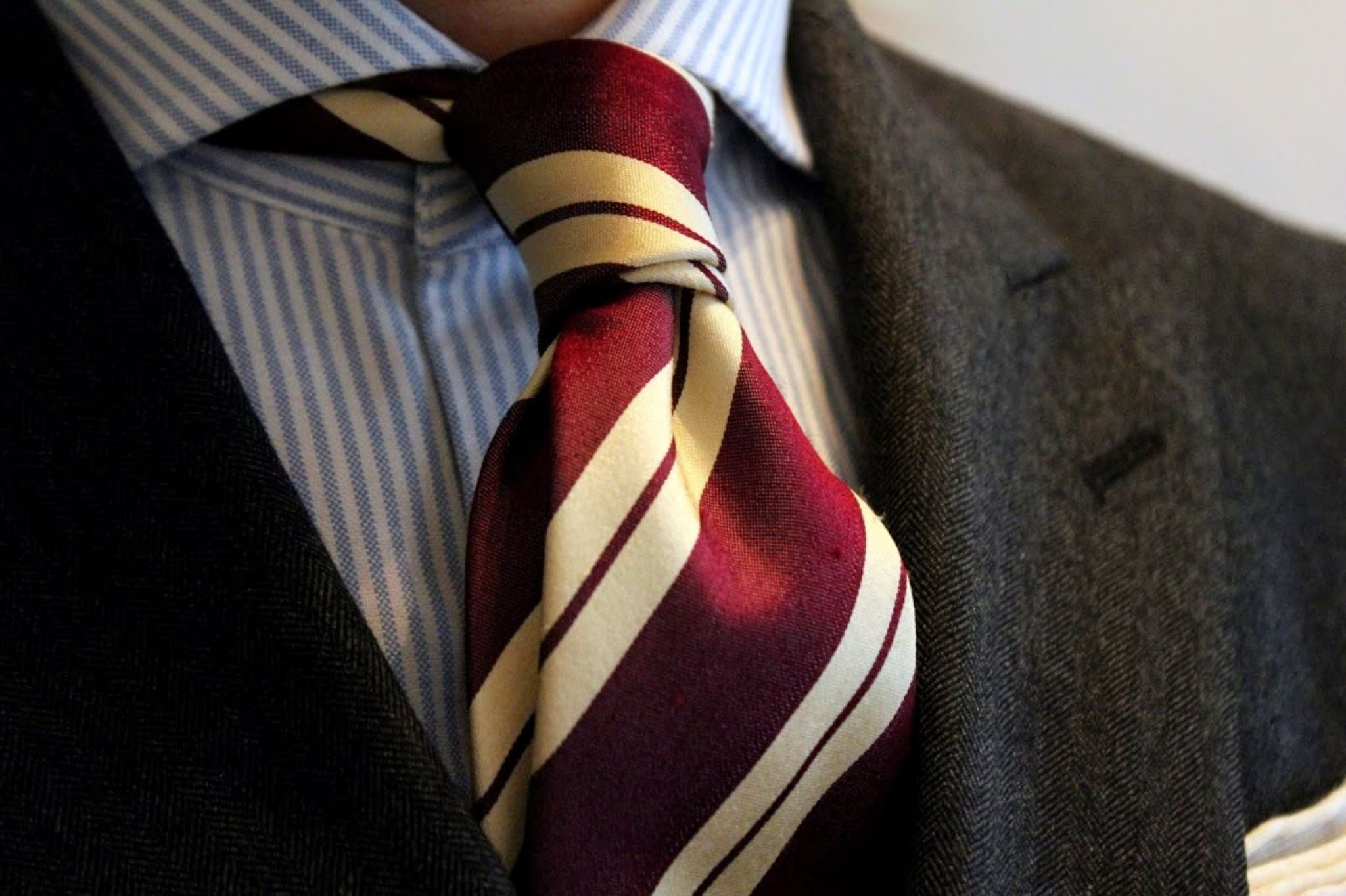 How to tie a tie - double four-in-hand knot