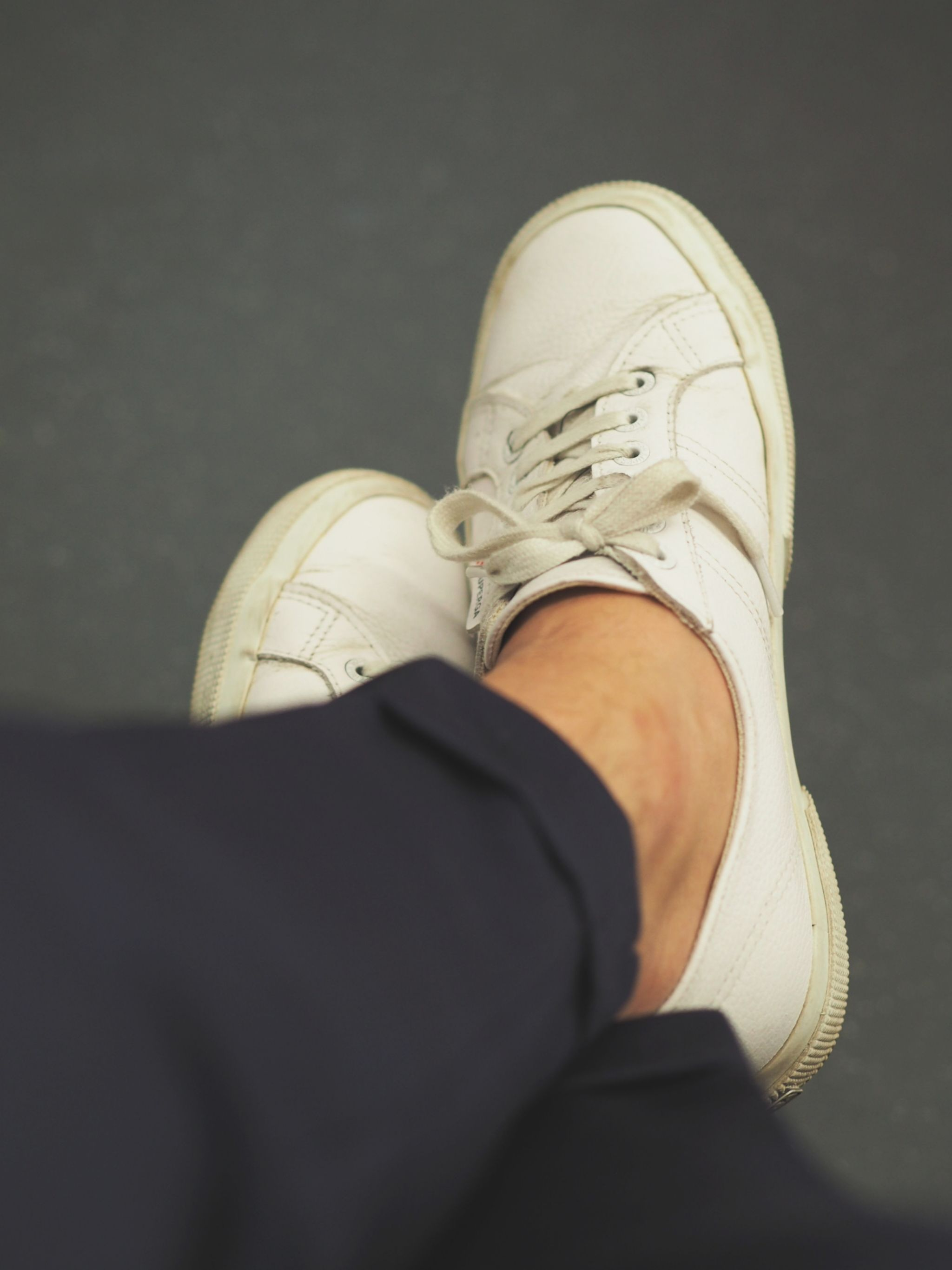 How to wear the same suit in different ways - classic Superga sneakers with the suit