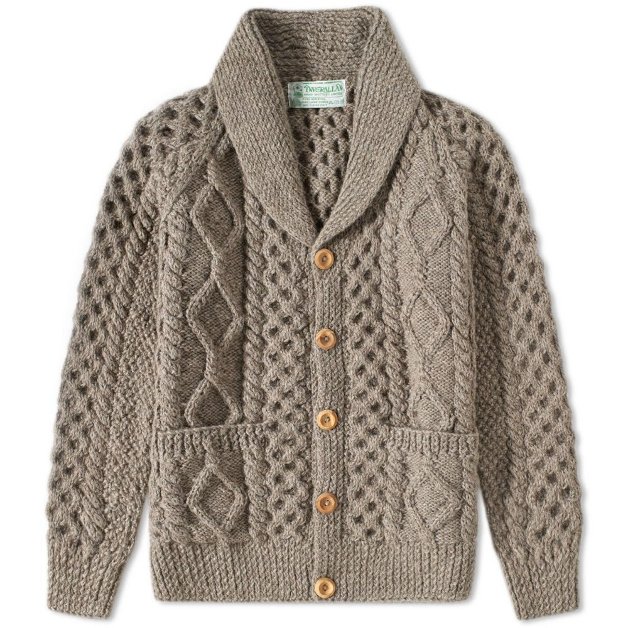 Inverallan gray 6A shawl collar cardigan