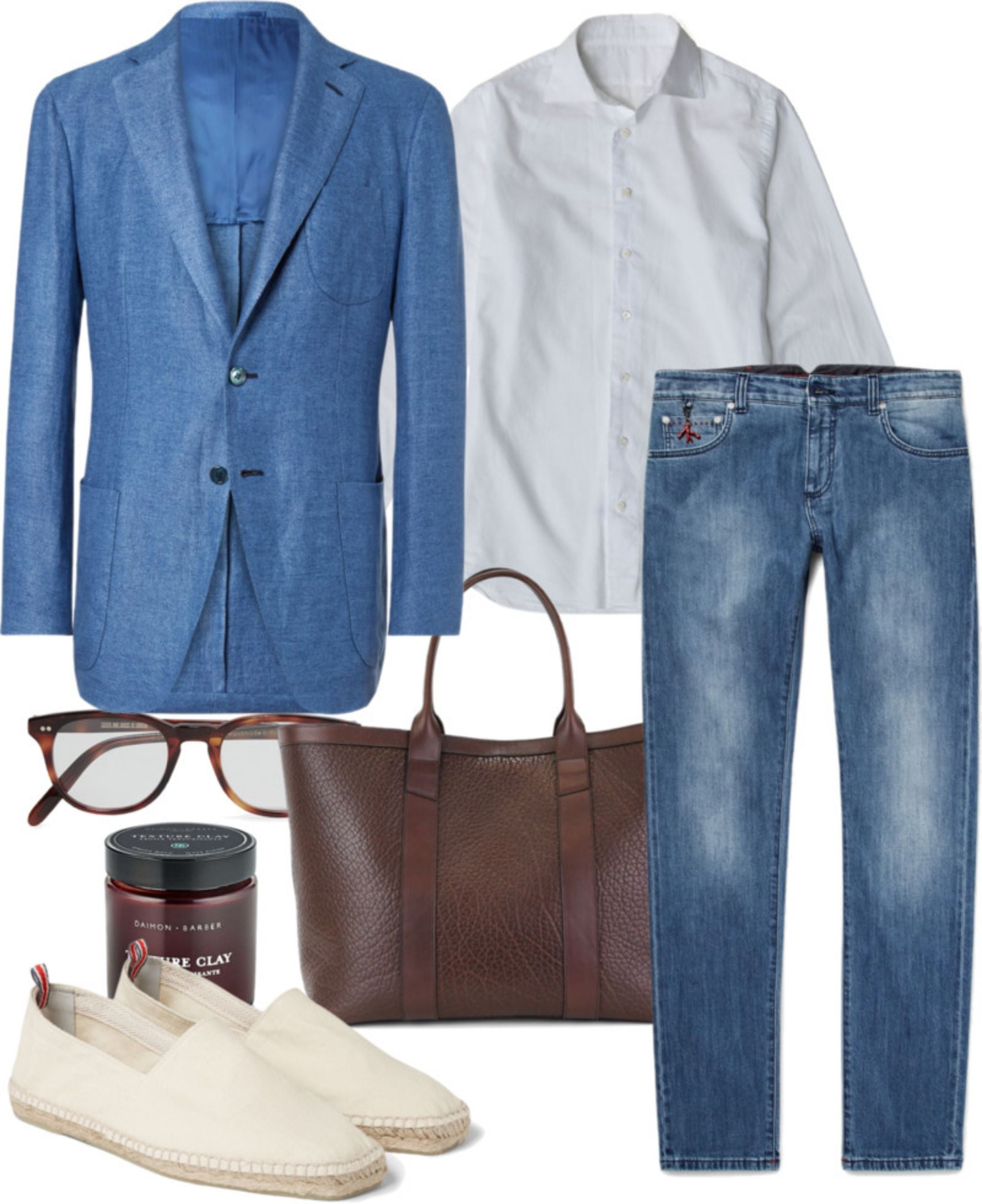 Light-blue-sport-coat-with-jeans-and-espadrillas.